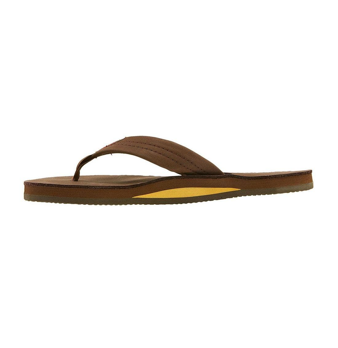 RAINBOW<SUP>®</SUP>, Rainbow Wide Strap Thong, Alternate thumbnail 6, color, EXPRESSO