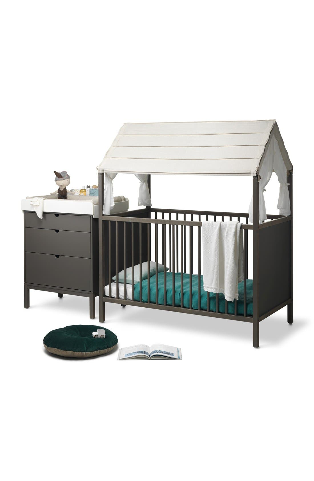 STOKKE, 'Home<sup>™</sup>' Bed, Alternate thumbnail 3, color, HAZY GREY