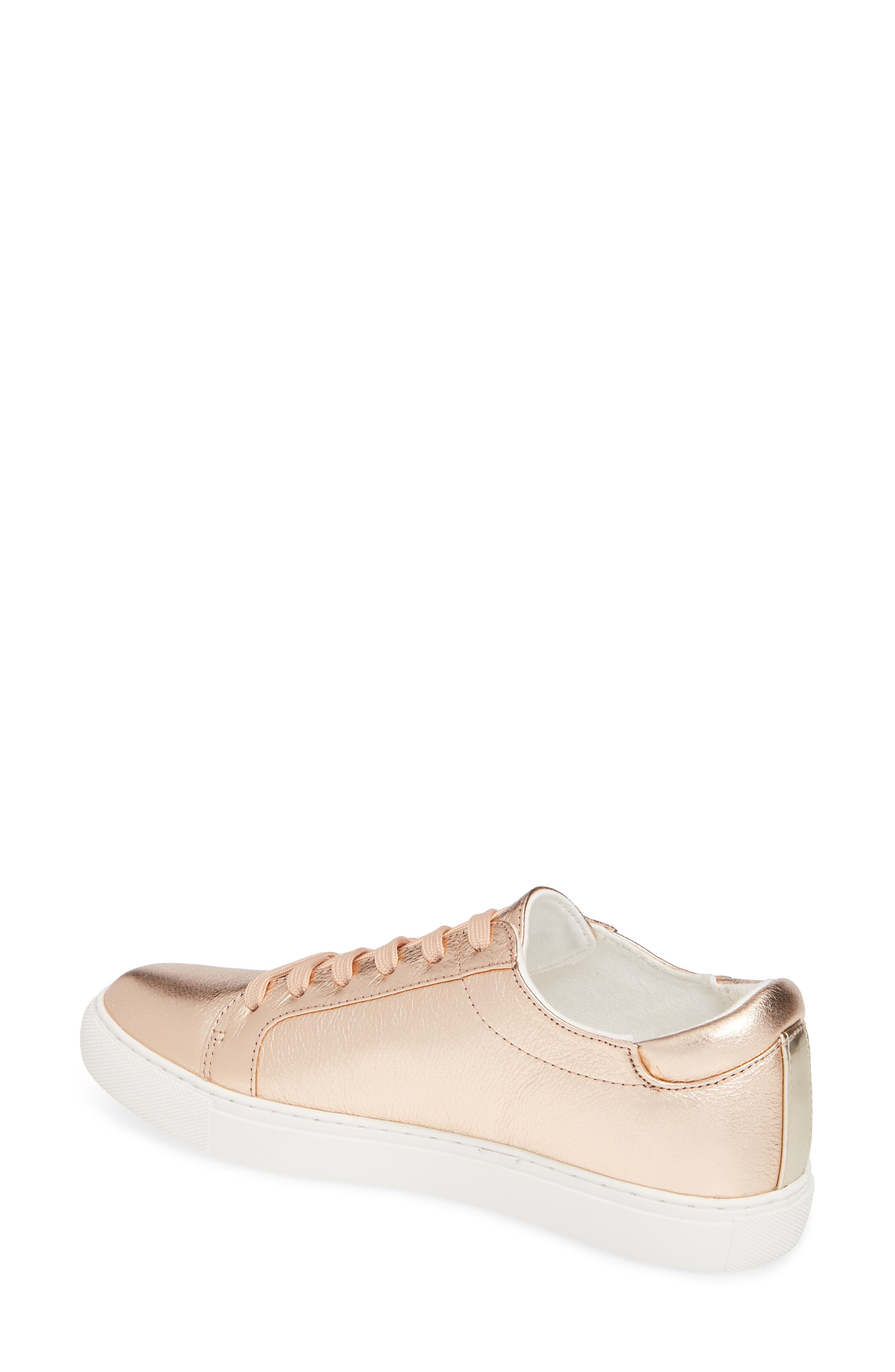KENNETH COLE NEW YORK, 'Kam' Sneaker, Alternate thumbnail 2, color, ROSE GOLD LEATHER
