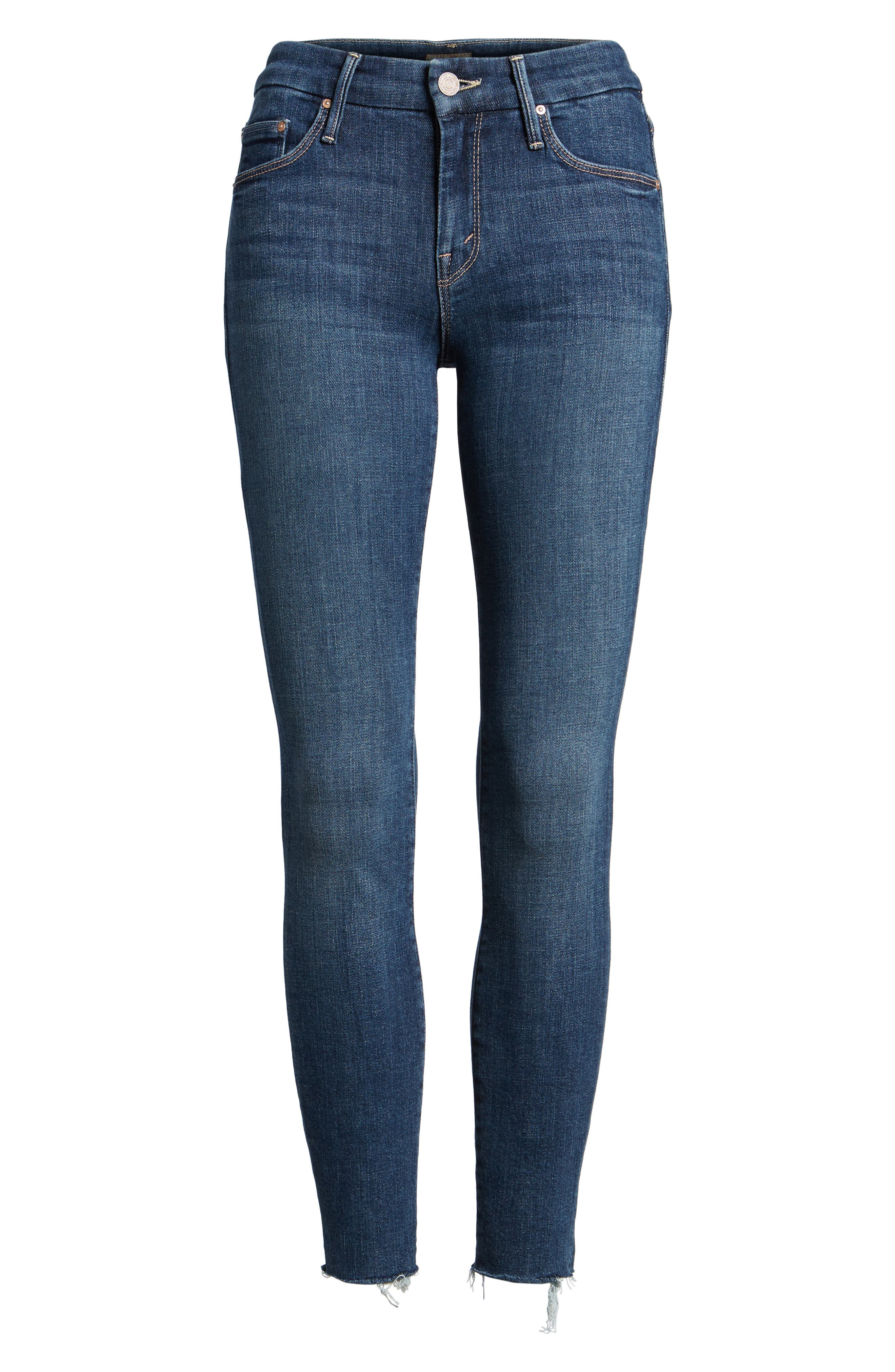 MOTHER, 'TheLooker'Frayed Ankle Jeans, Alternate thumbnail 2, color, 417