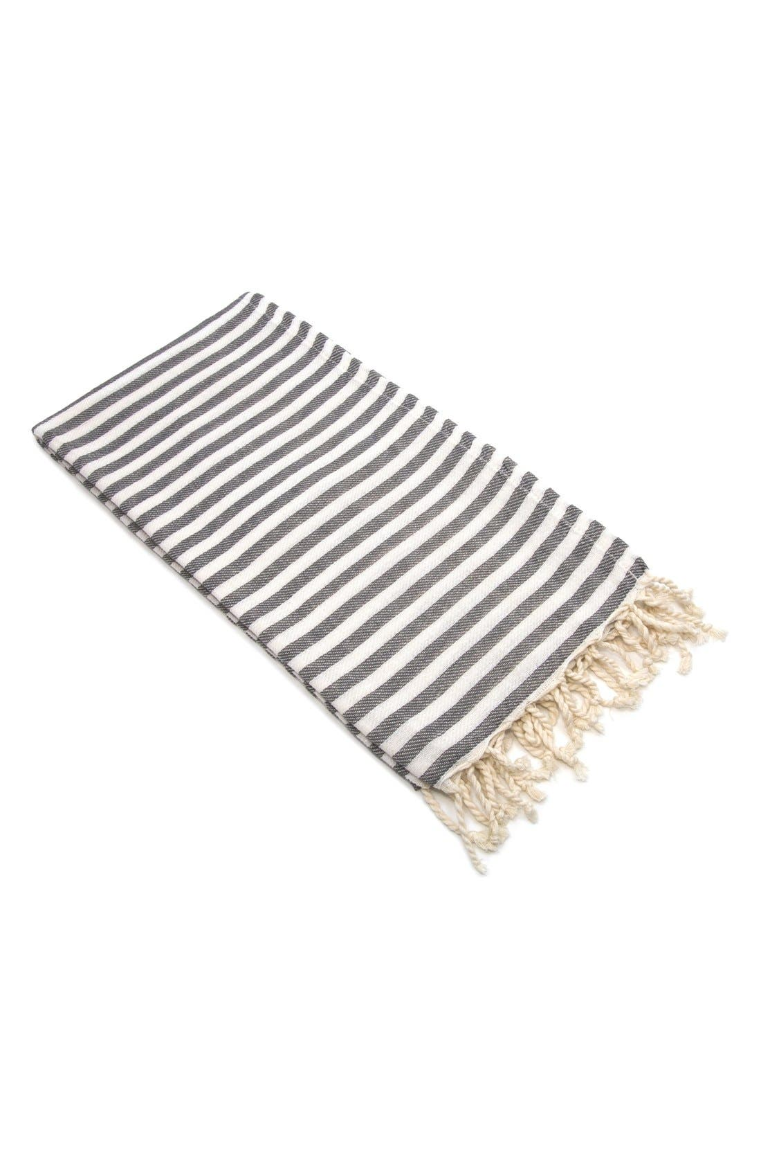Linum Home Textiles Fun In The Sun Turkish Pestemal Towel Size One Size  Grey