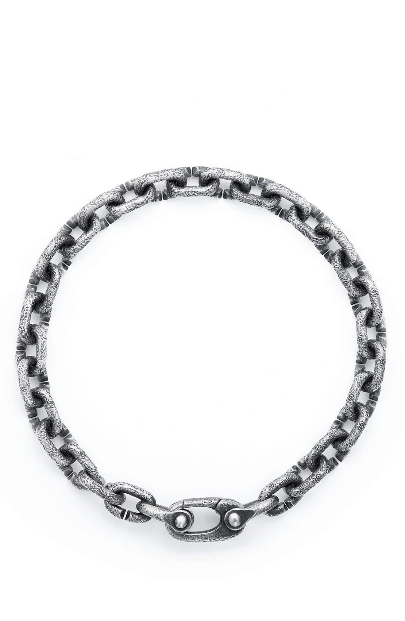DAVID YURMAN, Shipwreck Chain Bracelet, 6mm, Alternate thumbnail 2, color, SILVER