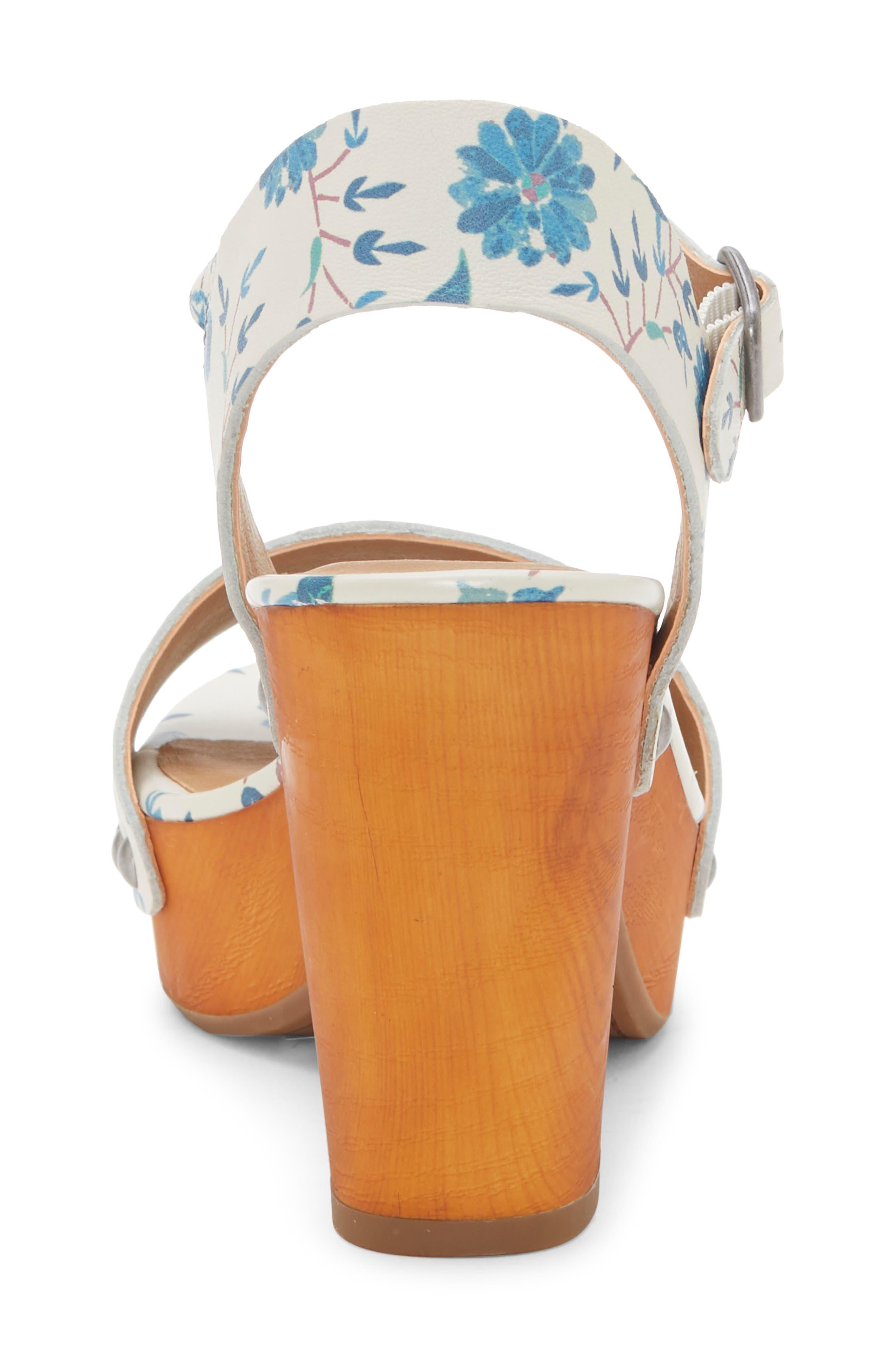LUCKY BRAND, Trisa Platform Sandal, Alternate thumbnail 7, color, BIRCH LEATHER