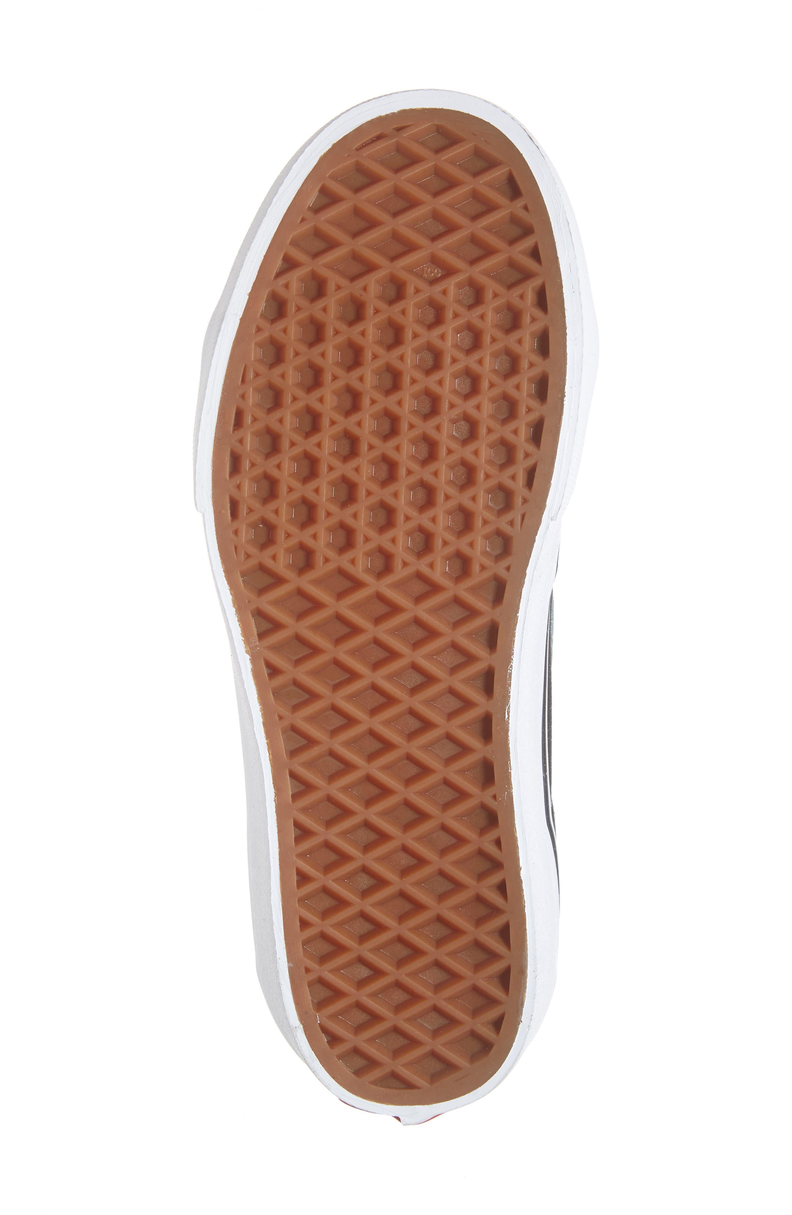 VANS, Sk8-Hi Platform Sneaker, Alternate thumbnail 6, color, BLACK/ TRUE WHITE