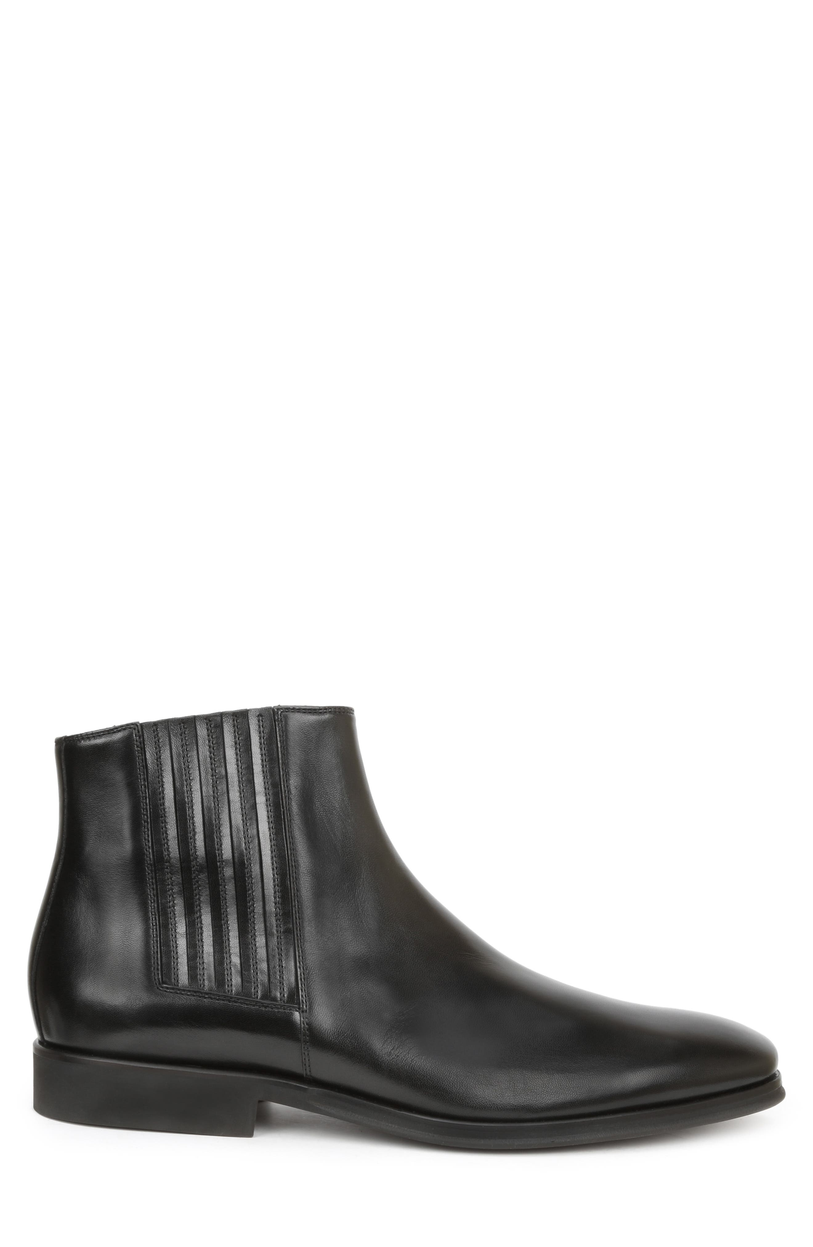 BRUNO MAGLI, Rezzo Chelsea Boot, Alternate thumbnail 3, color, BLACK