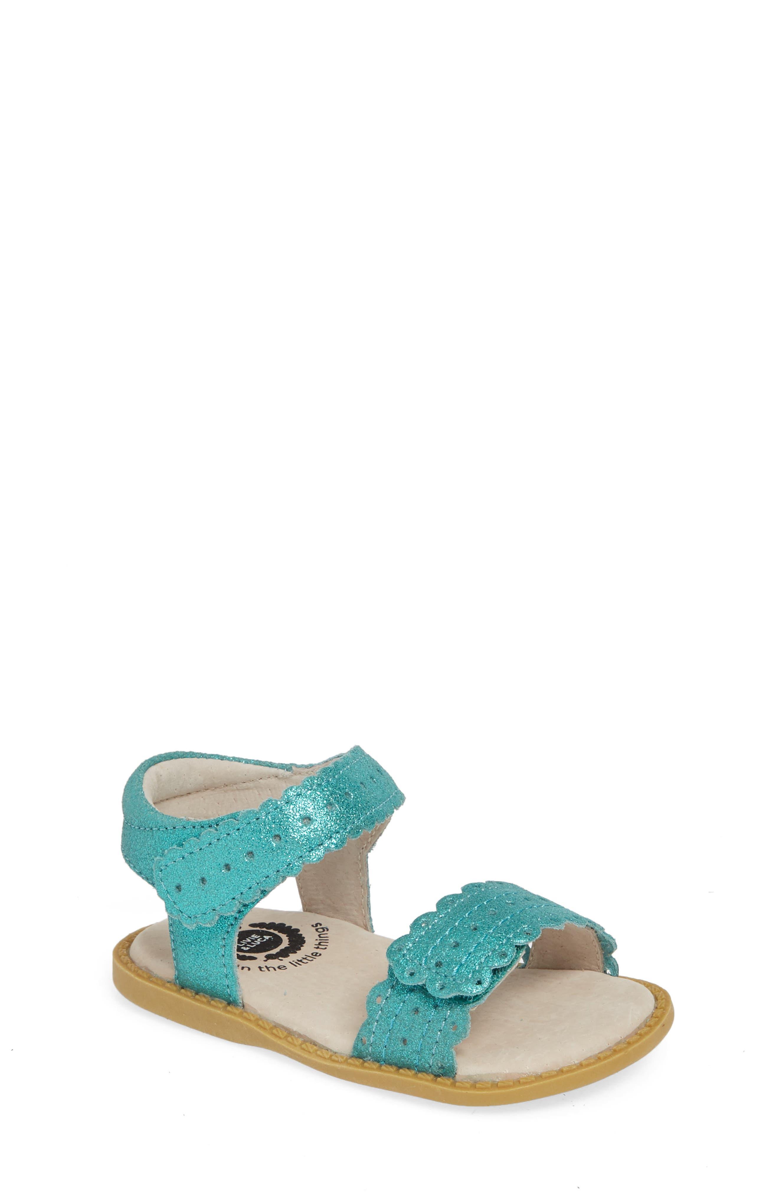 LIVIE & LUCA Posey Sandal, Main, color, AQUA SHIMMER