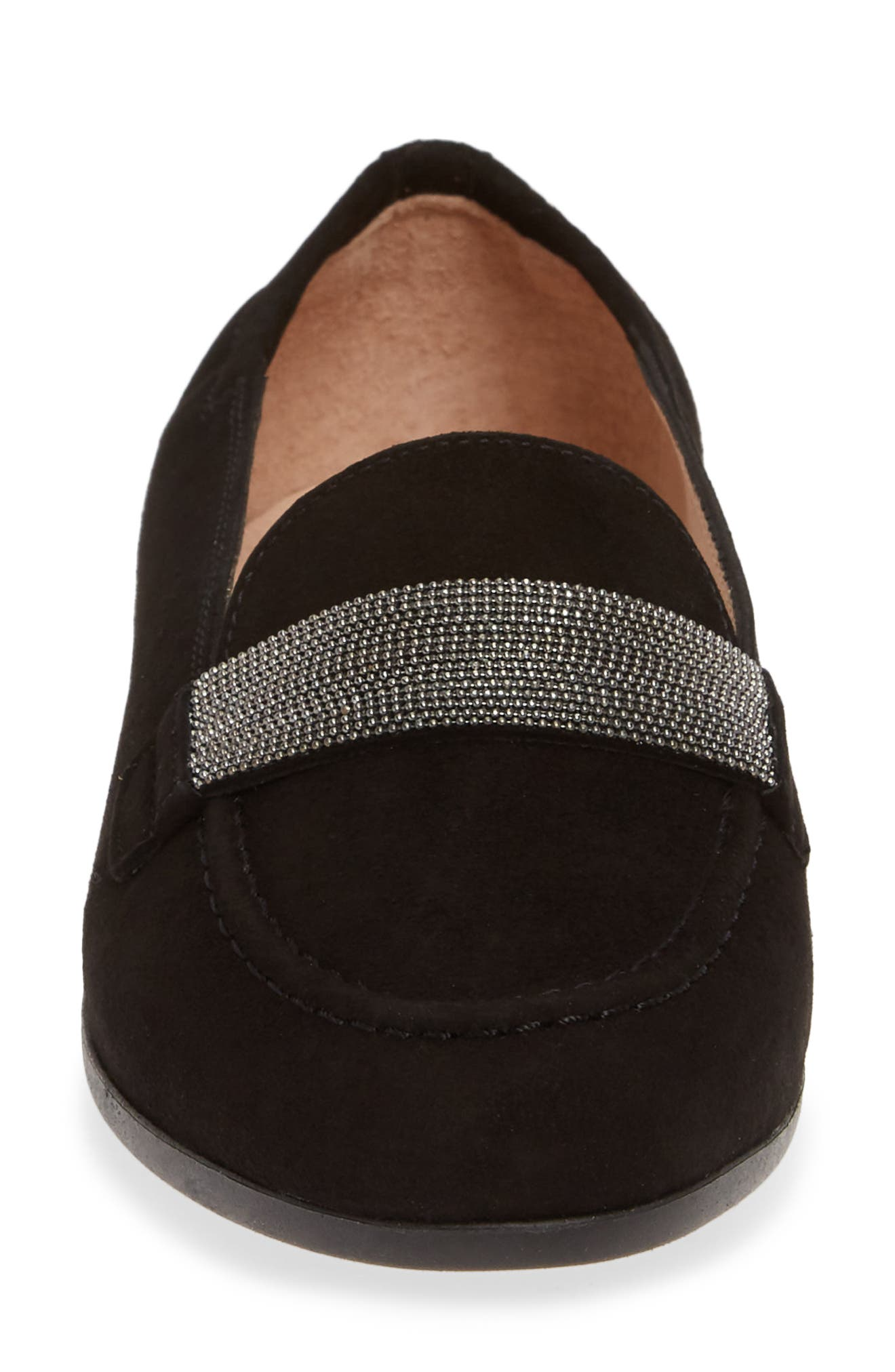 HISPANITAS, Canady Loafer, Alternate thumbnail 4, color, BLACK LEATHER