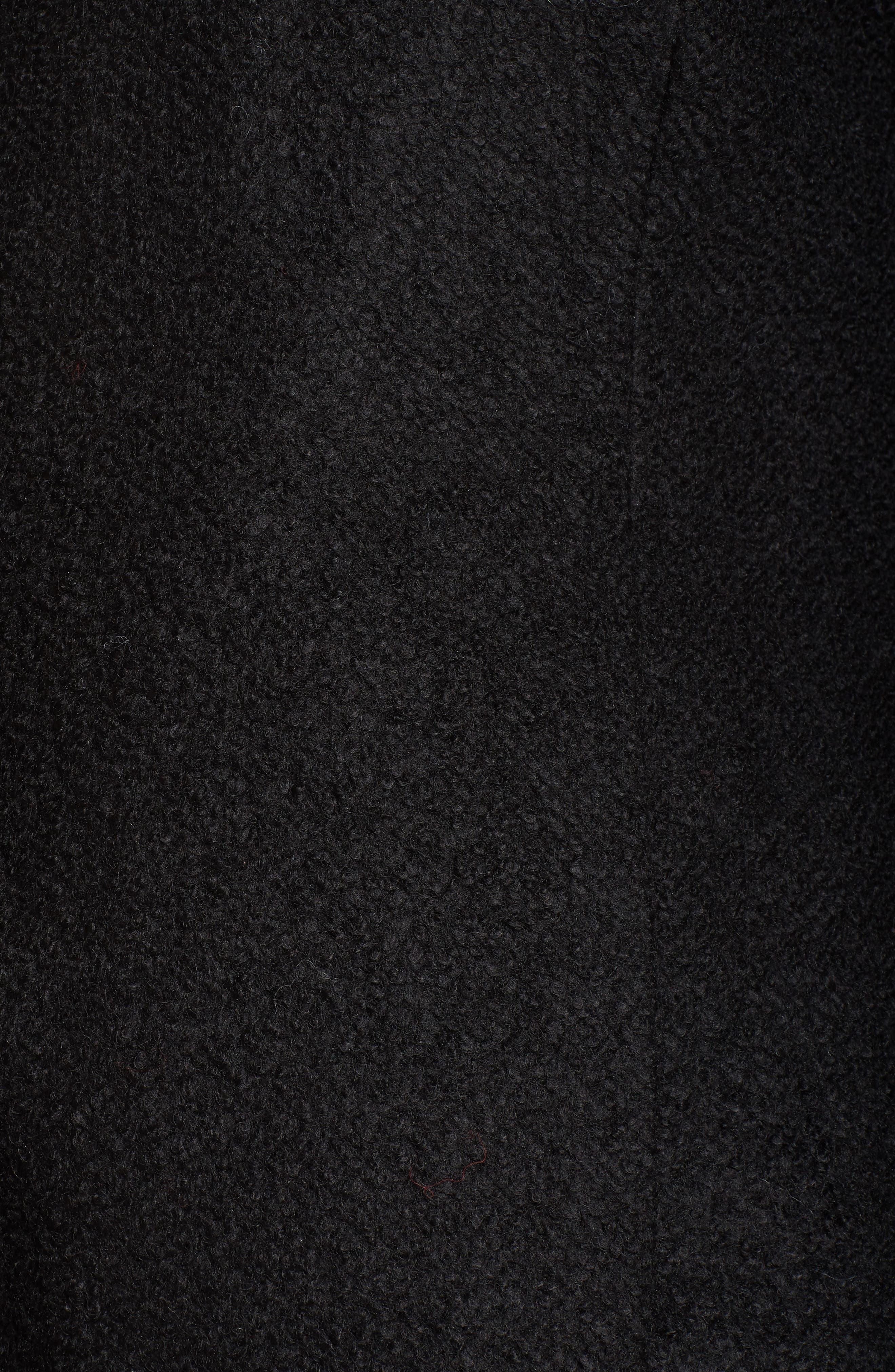 KENSIE, Notch Lapel Peplum Coat, Alternate thumbnail 7, color, BLACK