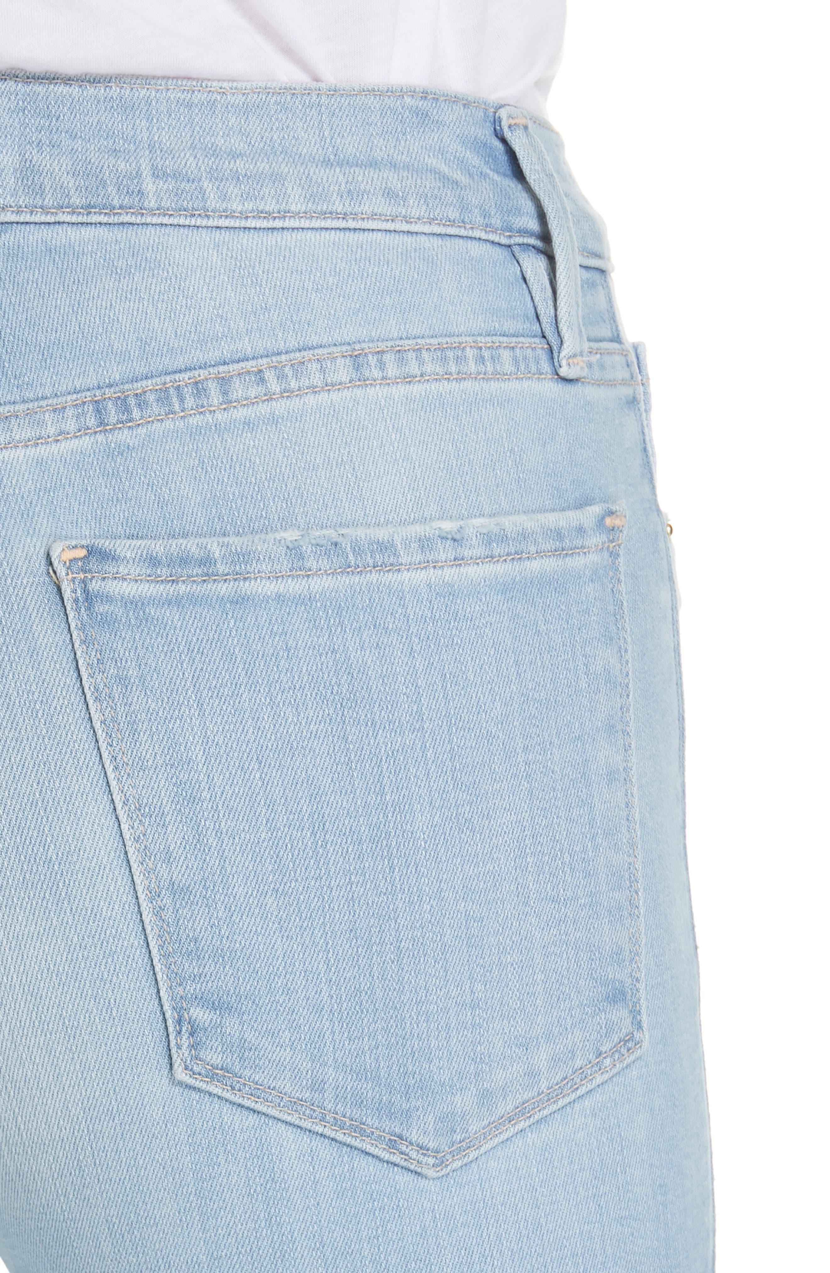 FRAME, Le Sylvie Slit Hem Crop Slim Jeans, Alternate thumbnail 5, color, SUPERSTAR