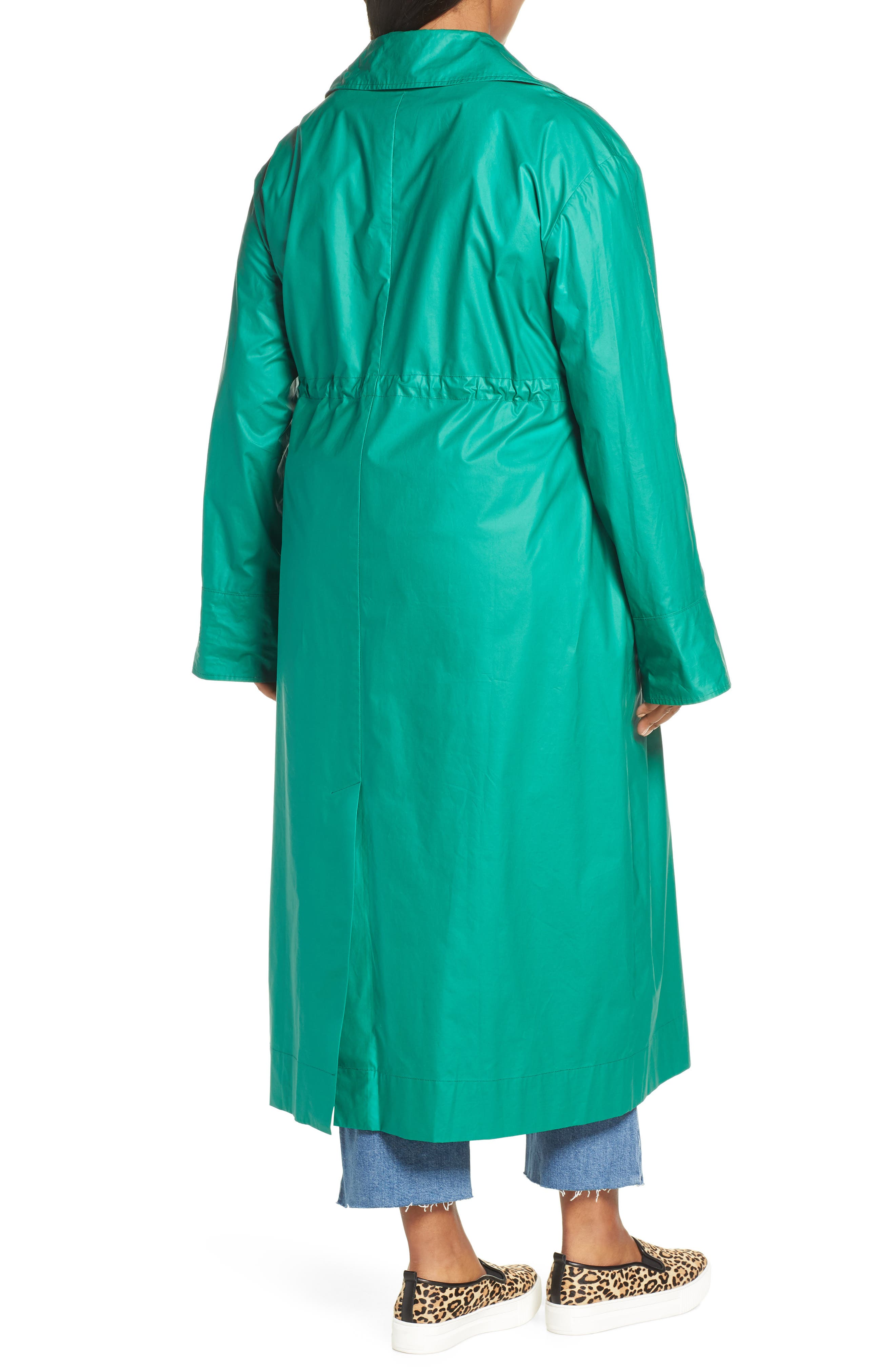 HALOGEN<SUP>®</SUP>, Elongated Cotton Overcoat, Alternate thumbnail 2, color, GREEN ULTRA