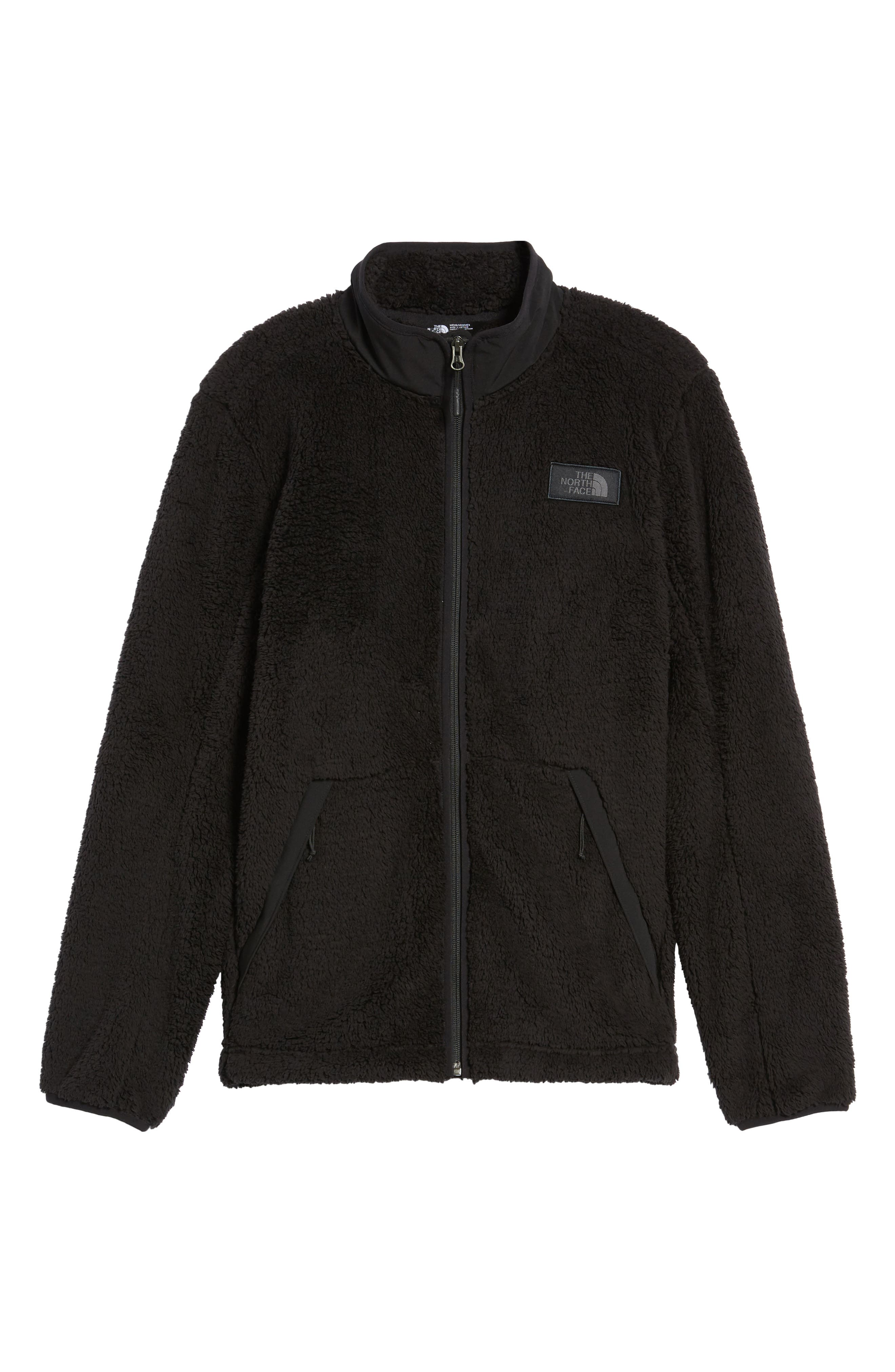 THE NORTH FACE, Campshire Zip Fleece Jacket, Alternate thumbnail 7, color, 001
