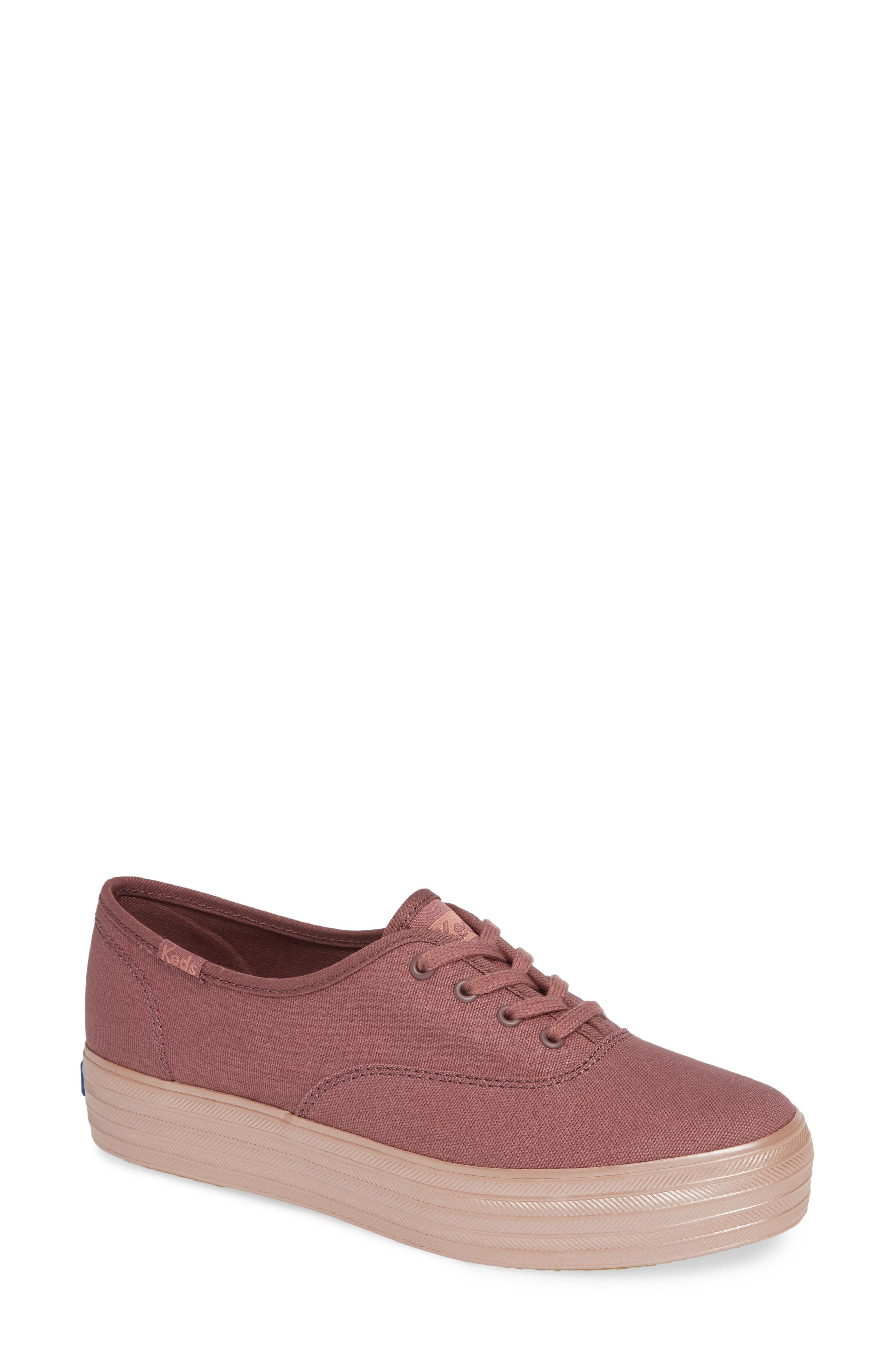 KEDS<SUP>®</SUP>, Triple Shimmer Sneaker, Main thumbnail 1, color, MAUVE