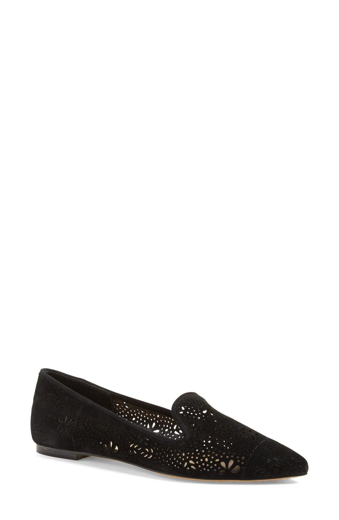 VINCE CAMUTO 'Earina' Perforated Flat, Main, color, 001