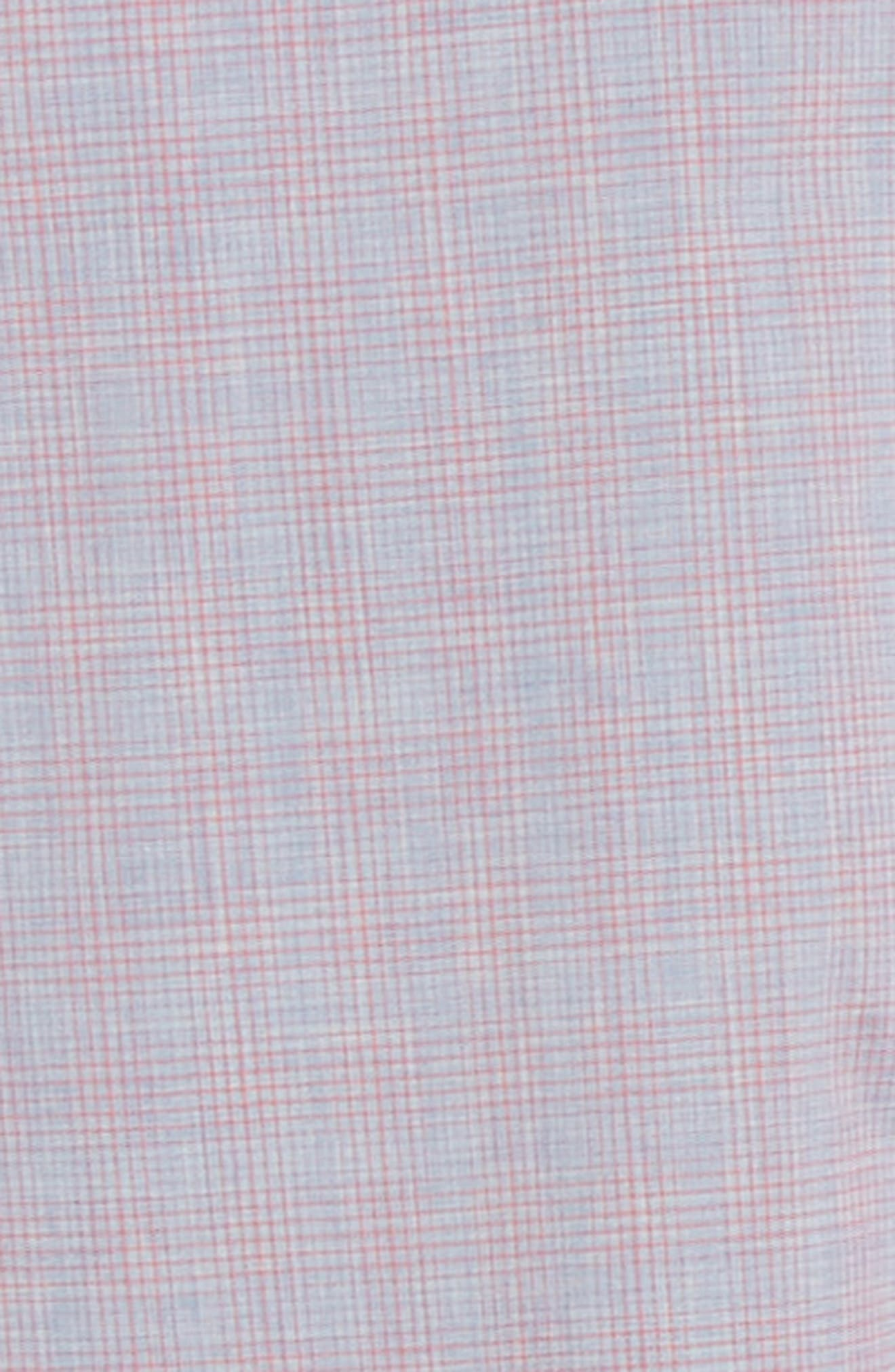 ZACHARY PRELL, Buckland Regular Fit Sport Shirt, Alternate thumbnail 6, color, FLAMINGO