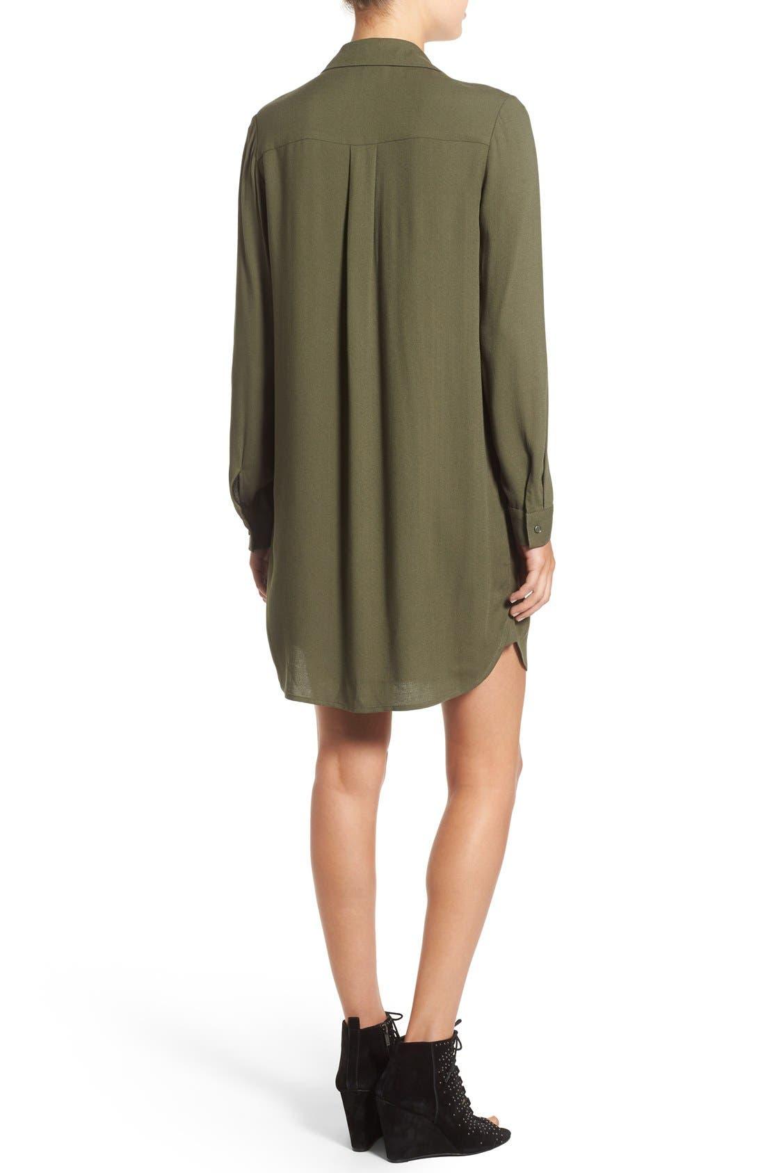 WAYF, Lace-Up Shirtdress, Alternate thumbnail 2, color, 300