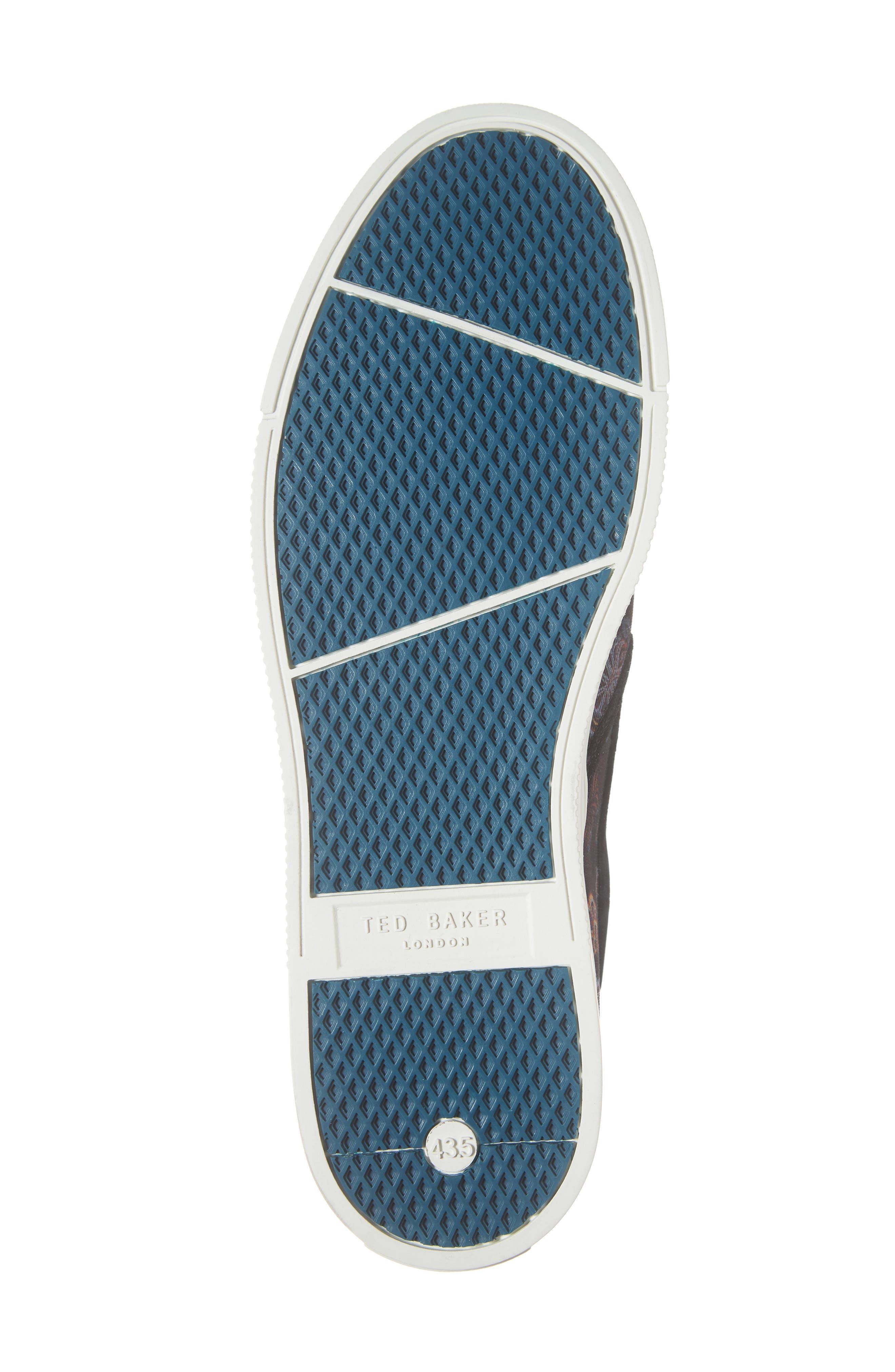 TED BAKER LONDON, Mhako Slip-On Sneaker, Alternate thumbnail 6, color, BLACK/ GREY