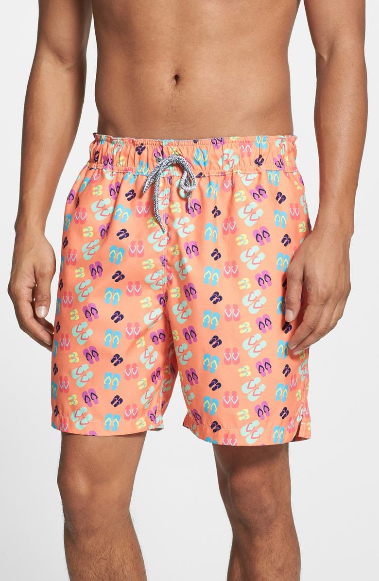 58736c618a Michael's Swimwear 'Flip Flops' Swim Trunks | Nordstrom