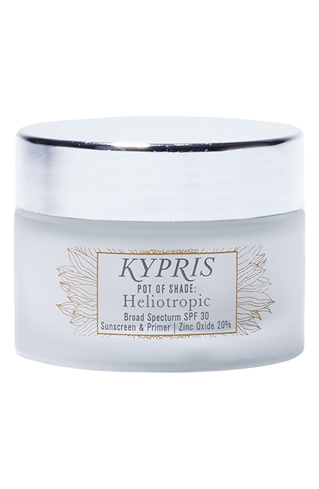 KYPRIS BEAUTY, Pot of Shade Heliotropic Treatment Primer SPF 30, Main thumbnail 1, color, NO COLOR