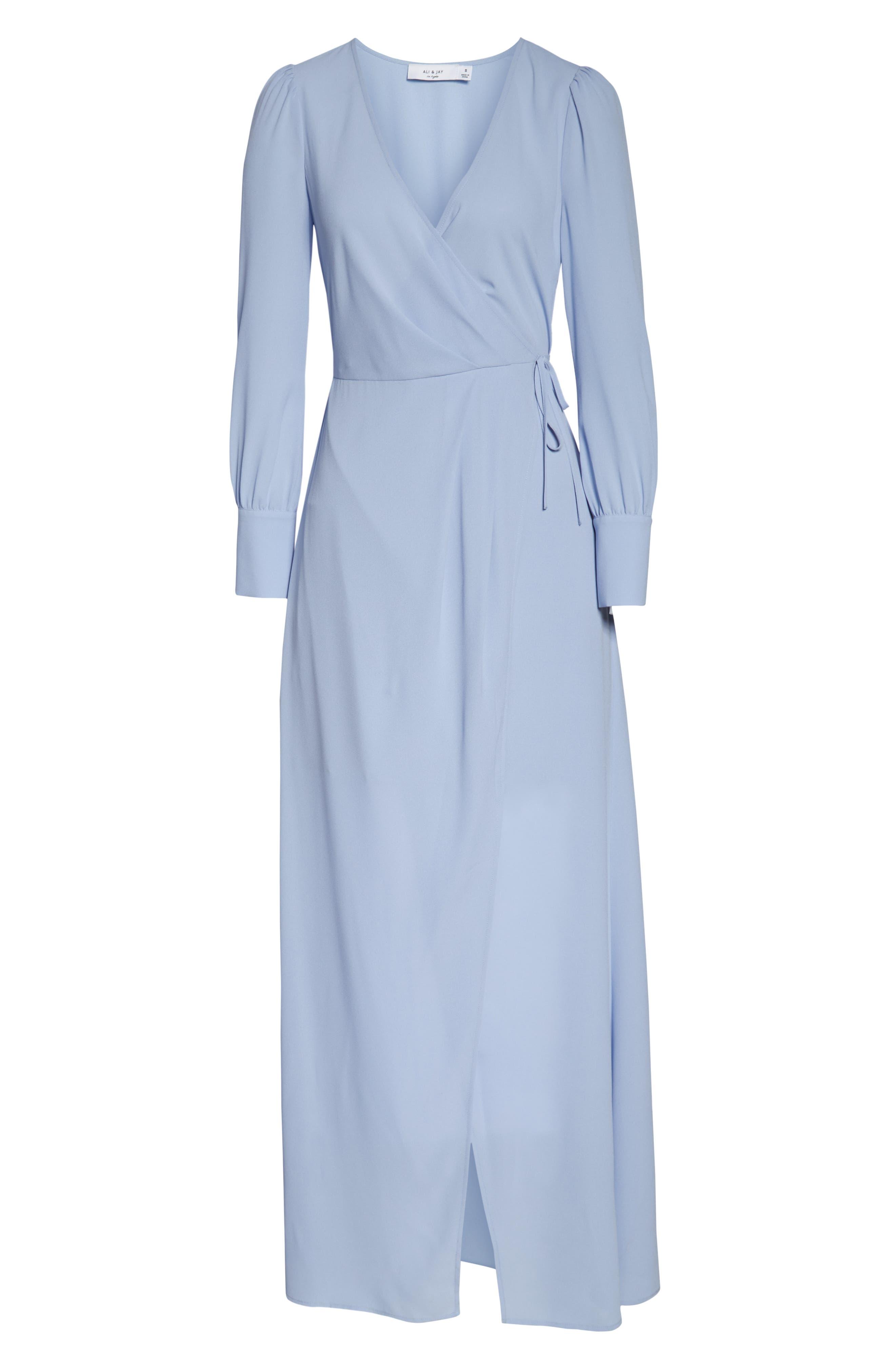 ALI & JAY, Garden Stroll Wrap Maxi Dress, Alternate thumbnail 7, color, 400