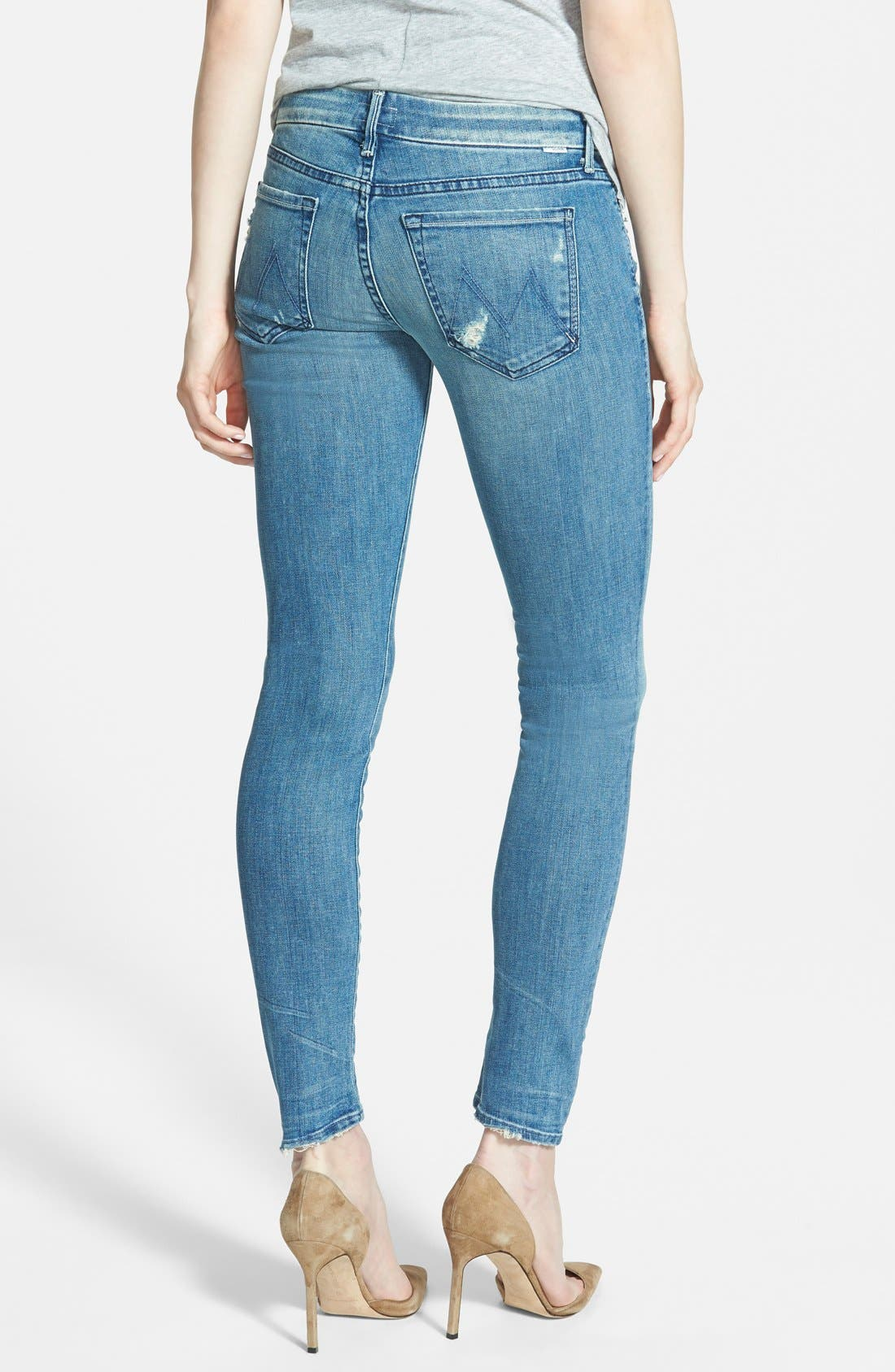 MOTHER, 'The Looker' Skinny Stretch Jeans, Alternate thumbnail 4, color, GRAFFITI GIRL