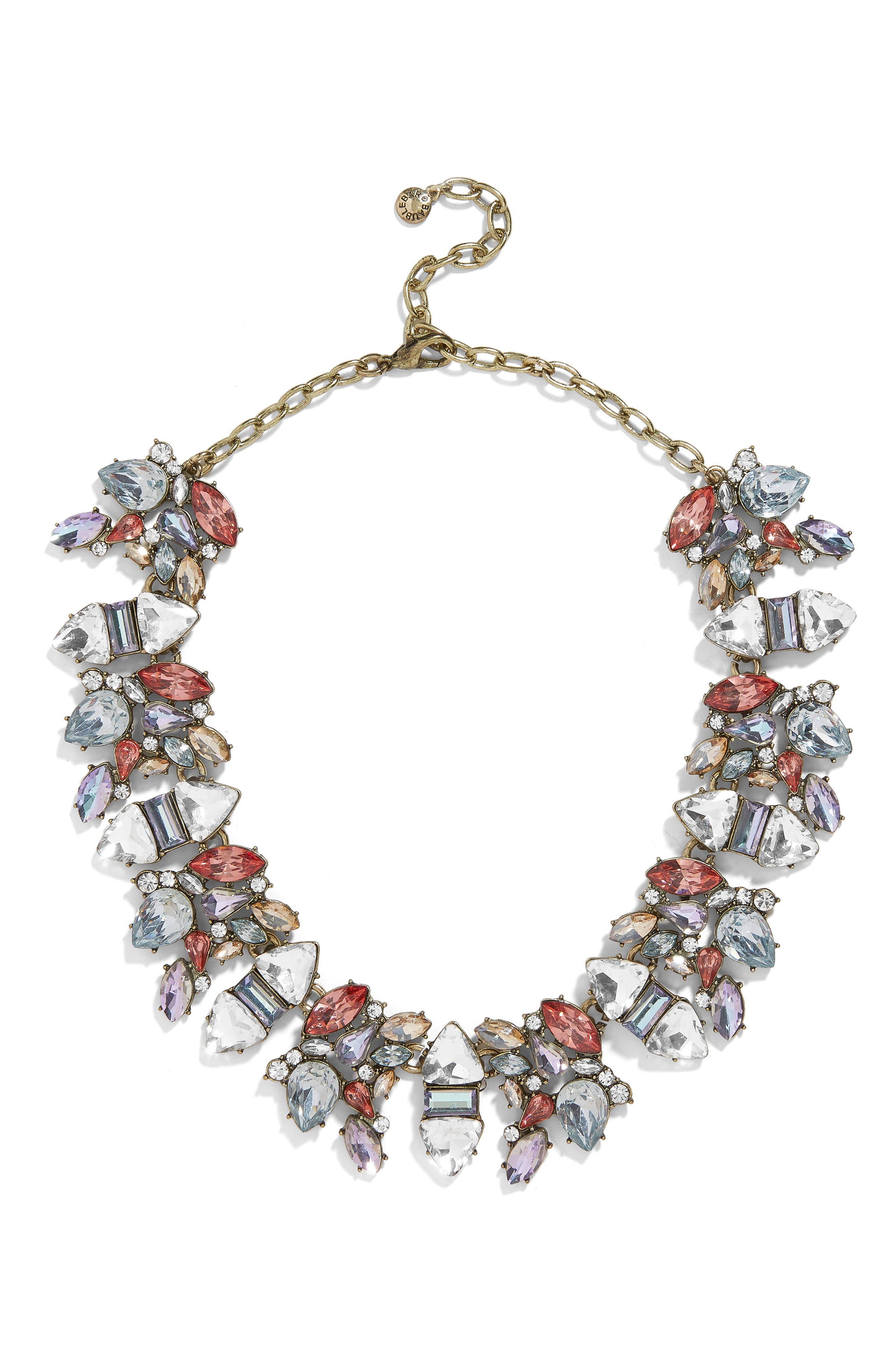 BAUBLEBAR Crystal Cluster Holiday Necklace, Main, color, MULTI