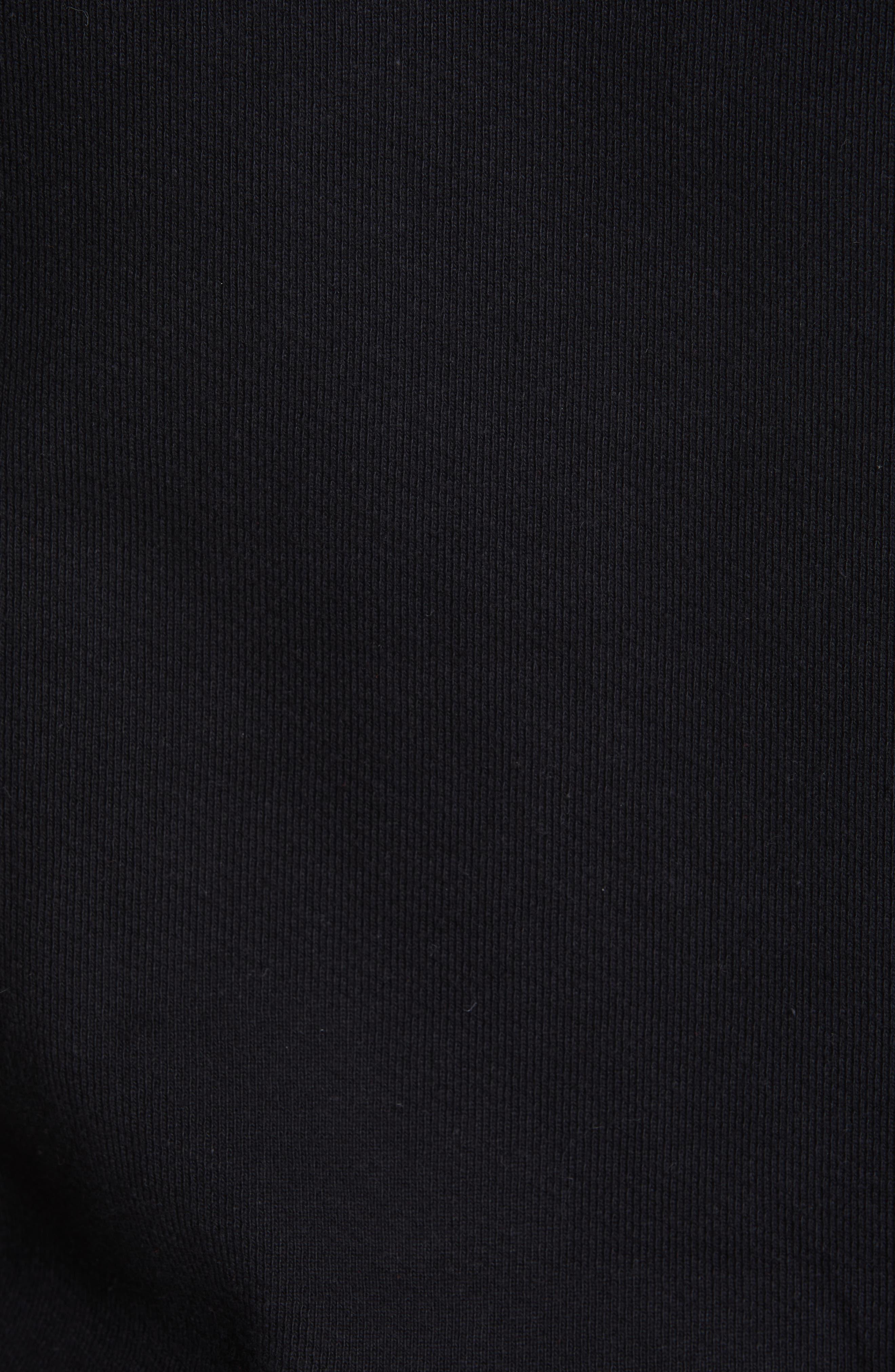OFF-WHITE, Slim Fit Logo Hoodie, Alternate thumbnail 5, color, BLACK