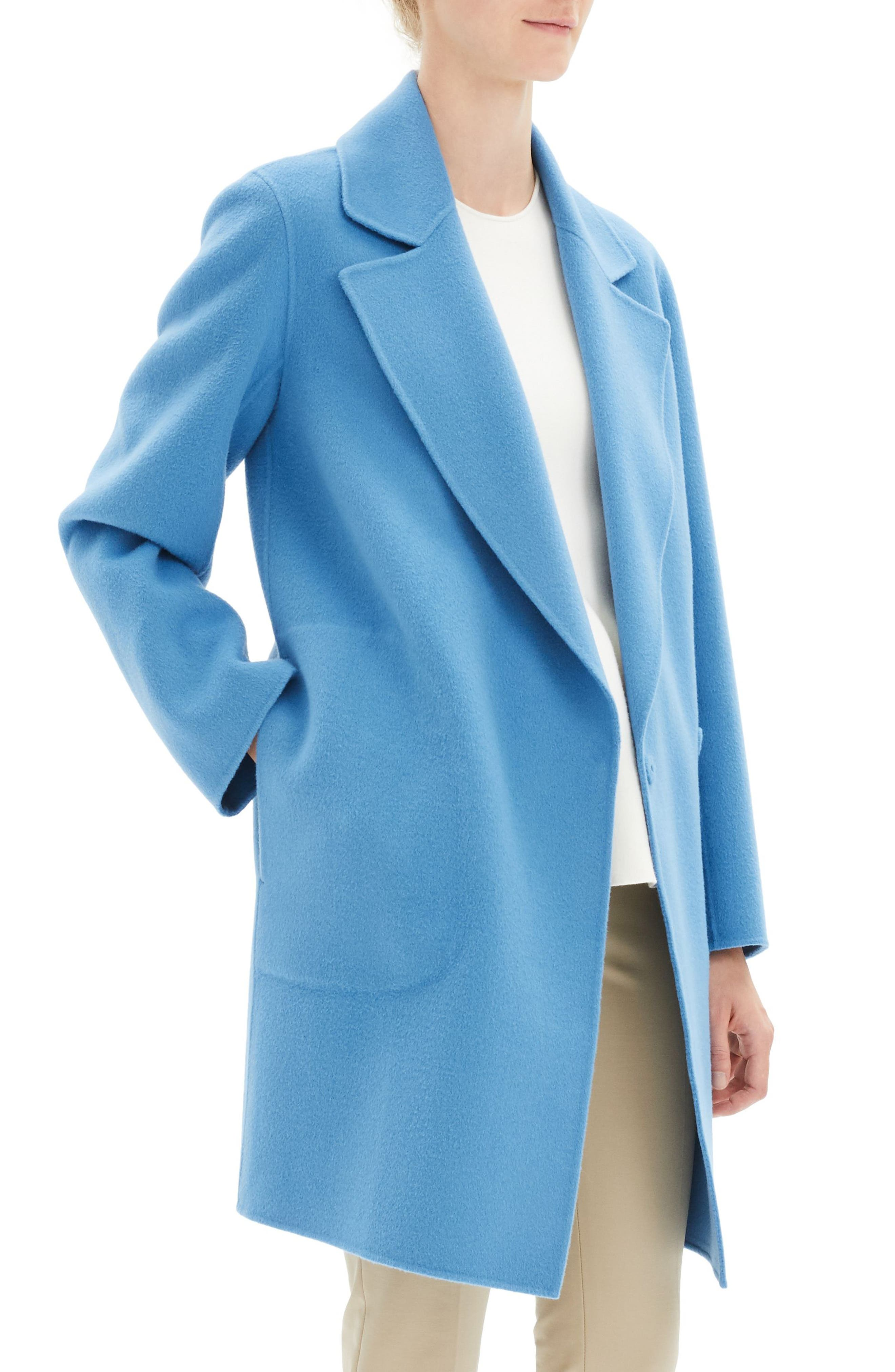 THEORY, Wool & Cashmere Boy Coat, Alternate thumbnail 4, color, 488