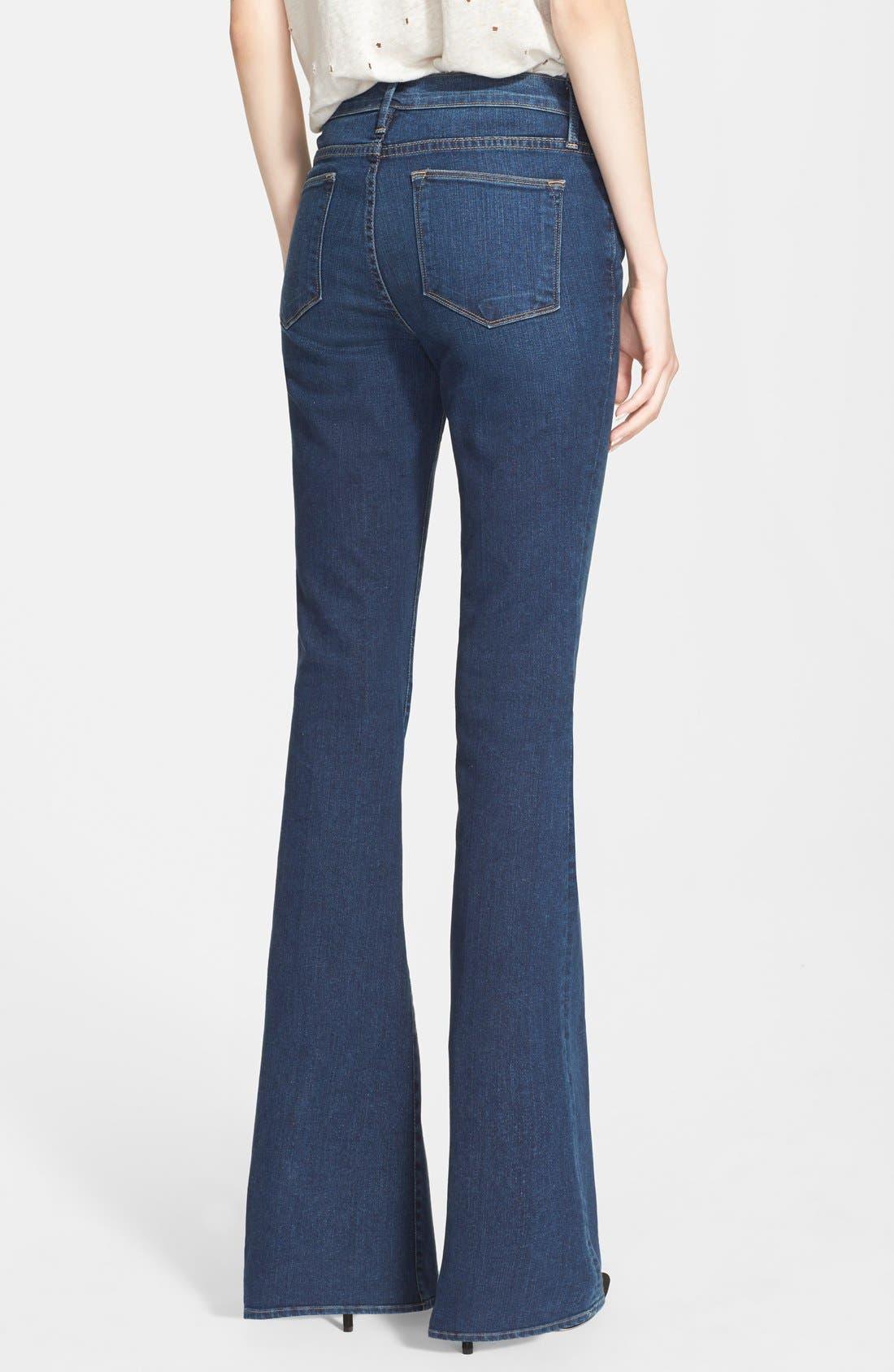 FRAME, Denim 'Le High Flare' Flare Leg Jeans, Alternate thumbnail 6, color, 401