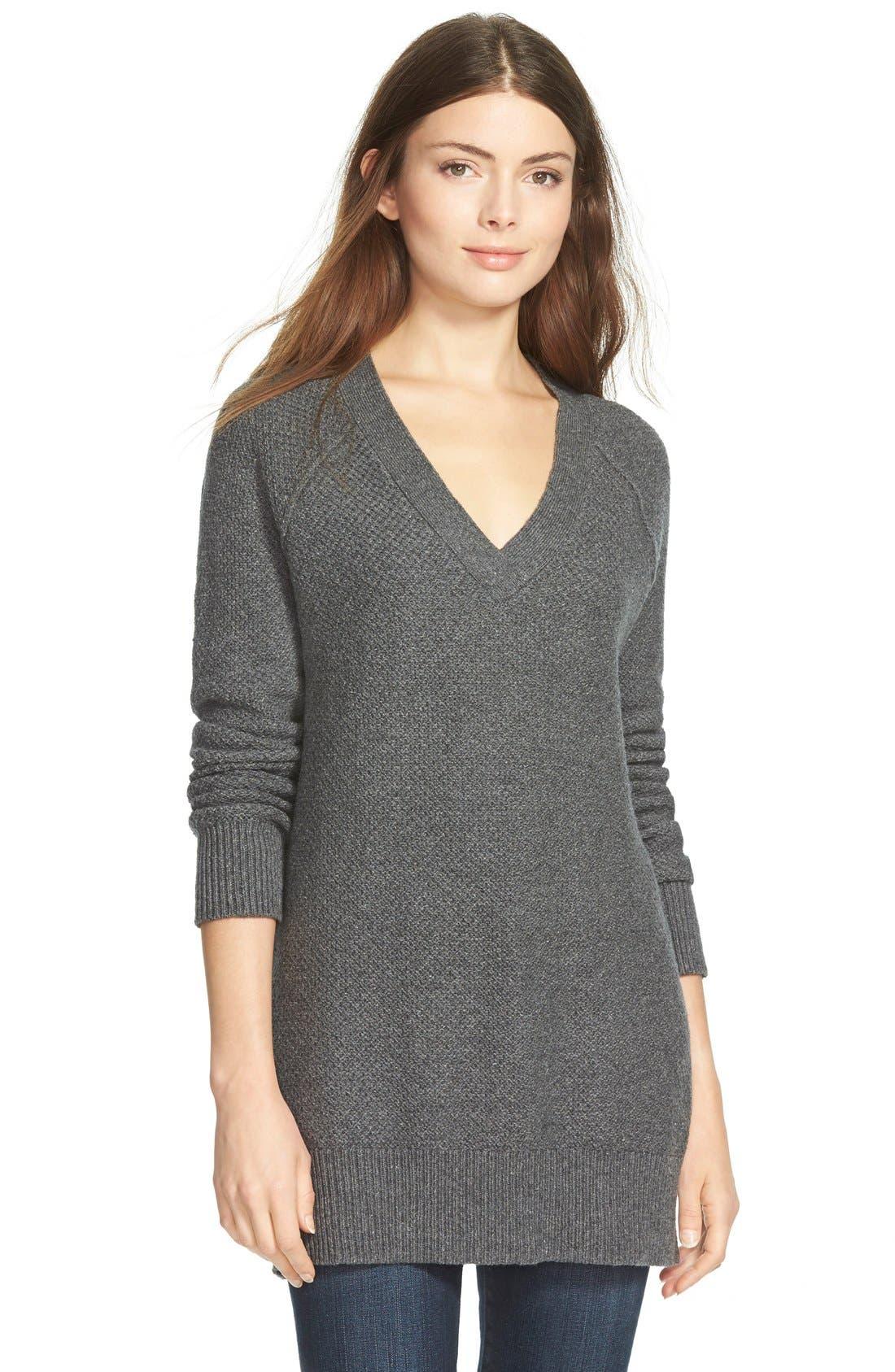 TREASURE & BOND Treasure&Bond Oversize V-Neck Sweater, Main, color, 020