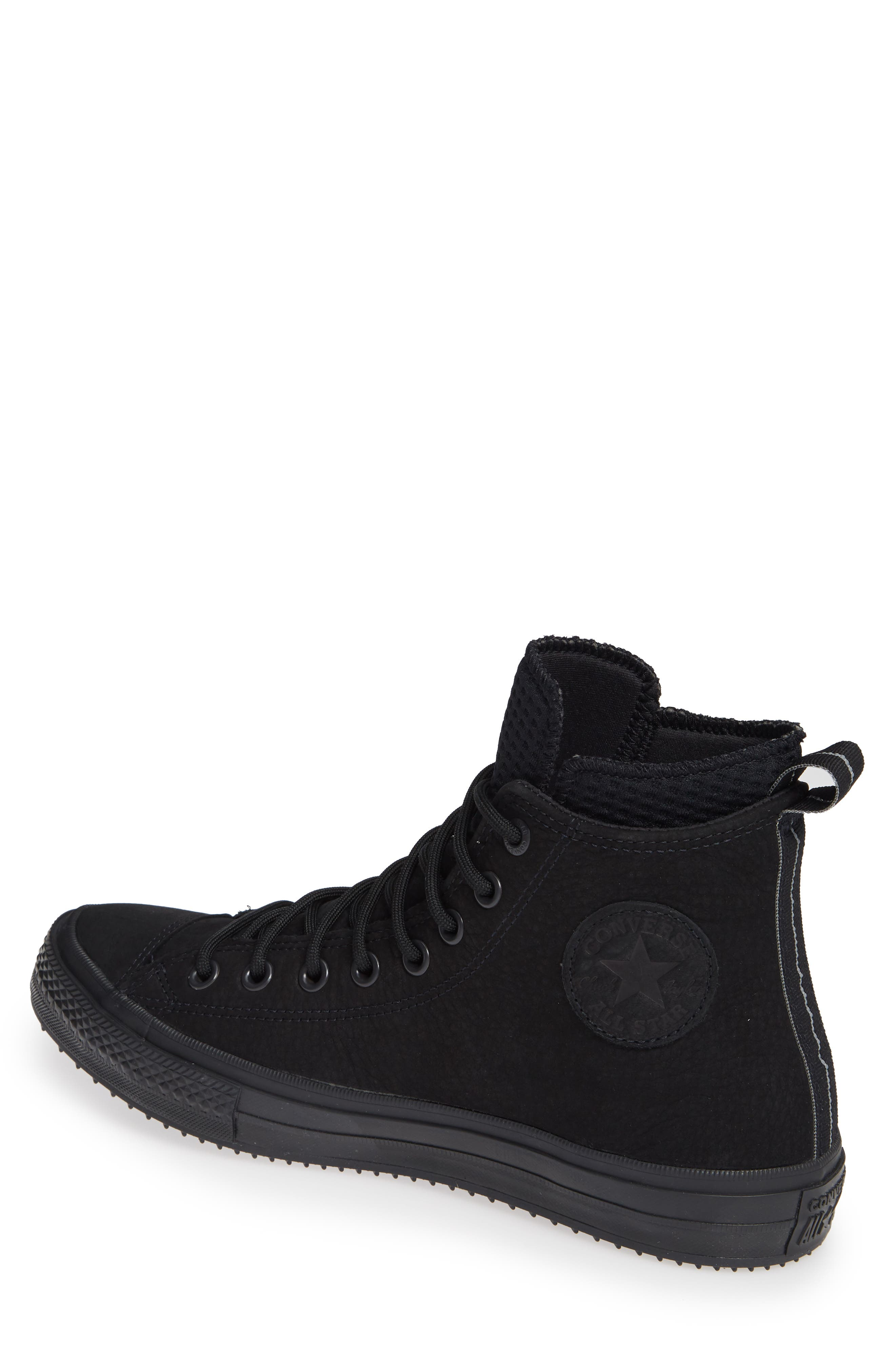 CONVERSE, Chuck Taylor<sup>®</sup> All Star<sup>®</sup> Counter Climate Waterproof Sneaker, Alternate thumbnail 2, color, BLACK/ BLACK/ BLACK