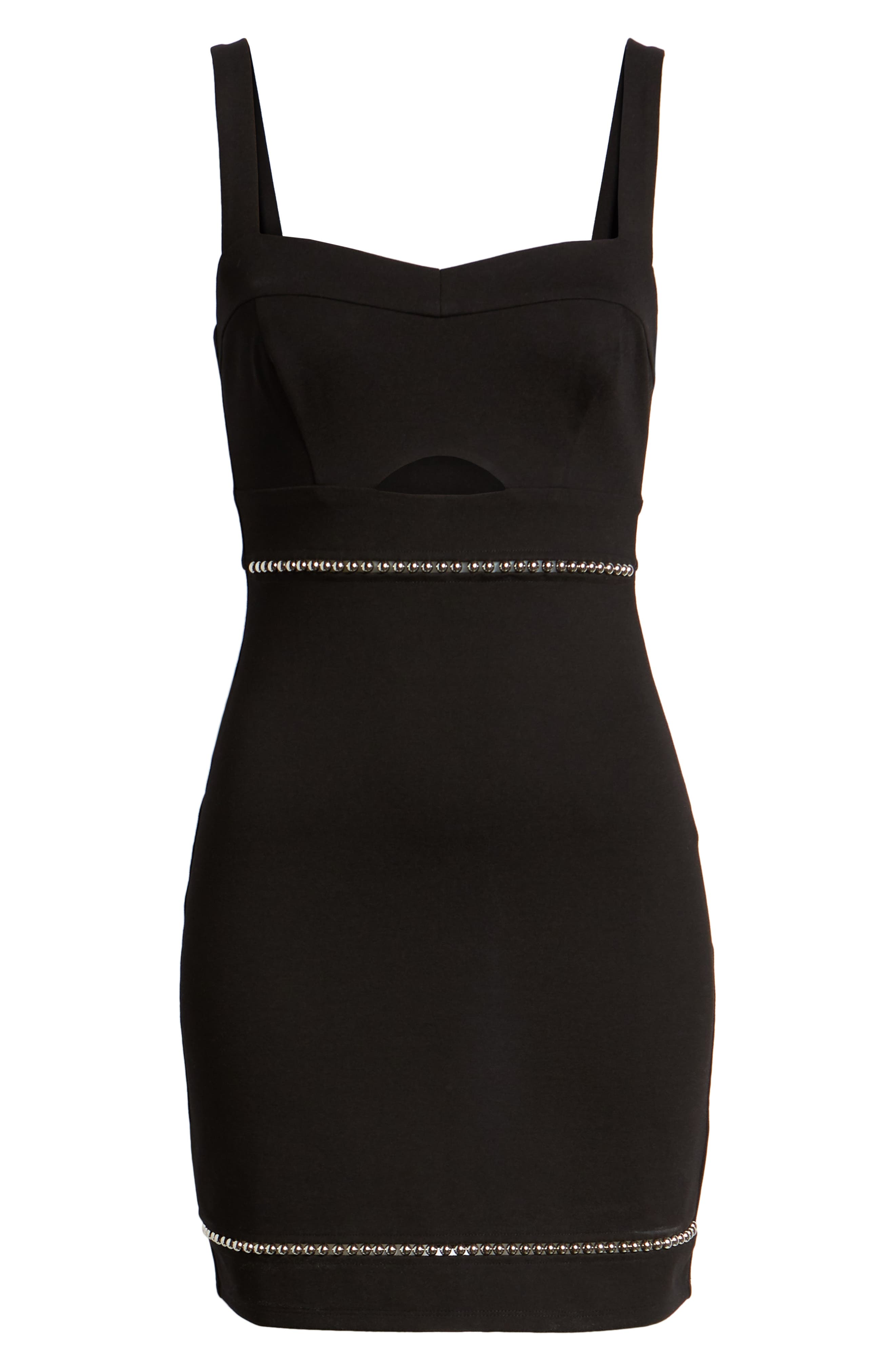 ASTR THE LABEL, Beaded Body-Con Dress, Alternate thumbnail 7, color, 001