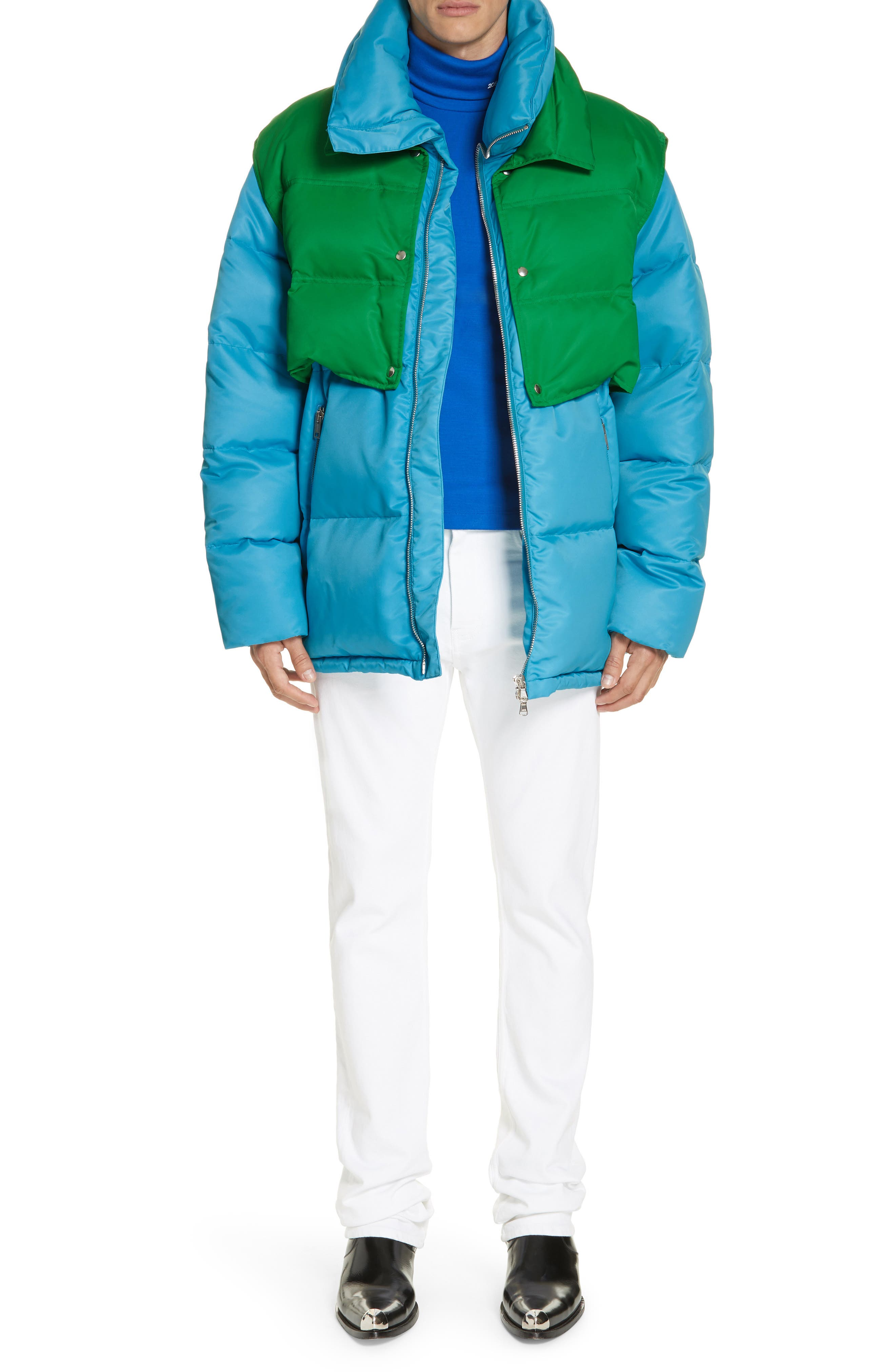 CALVIN KLEIN 205W39NYC, Wool Jersey Turtleneck, Alternate thumbnail 7, color, BRIGHT BLUE