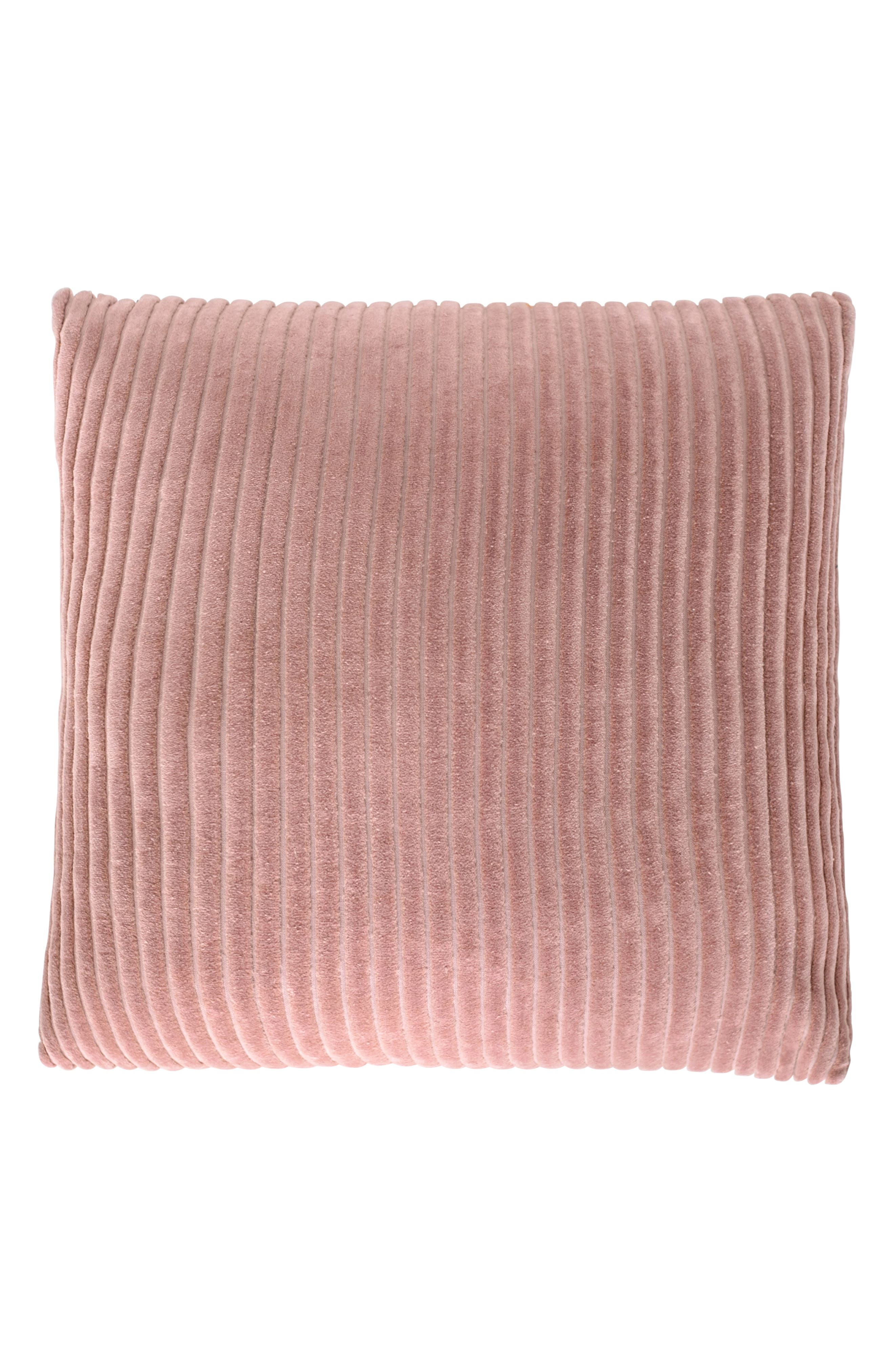 EADIE LIFESTYLE Ribbed Velvet Scatter Accent Pillow, Main, color, MUSK