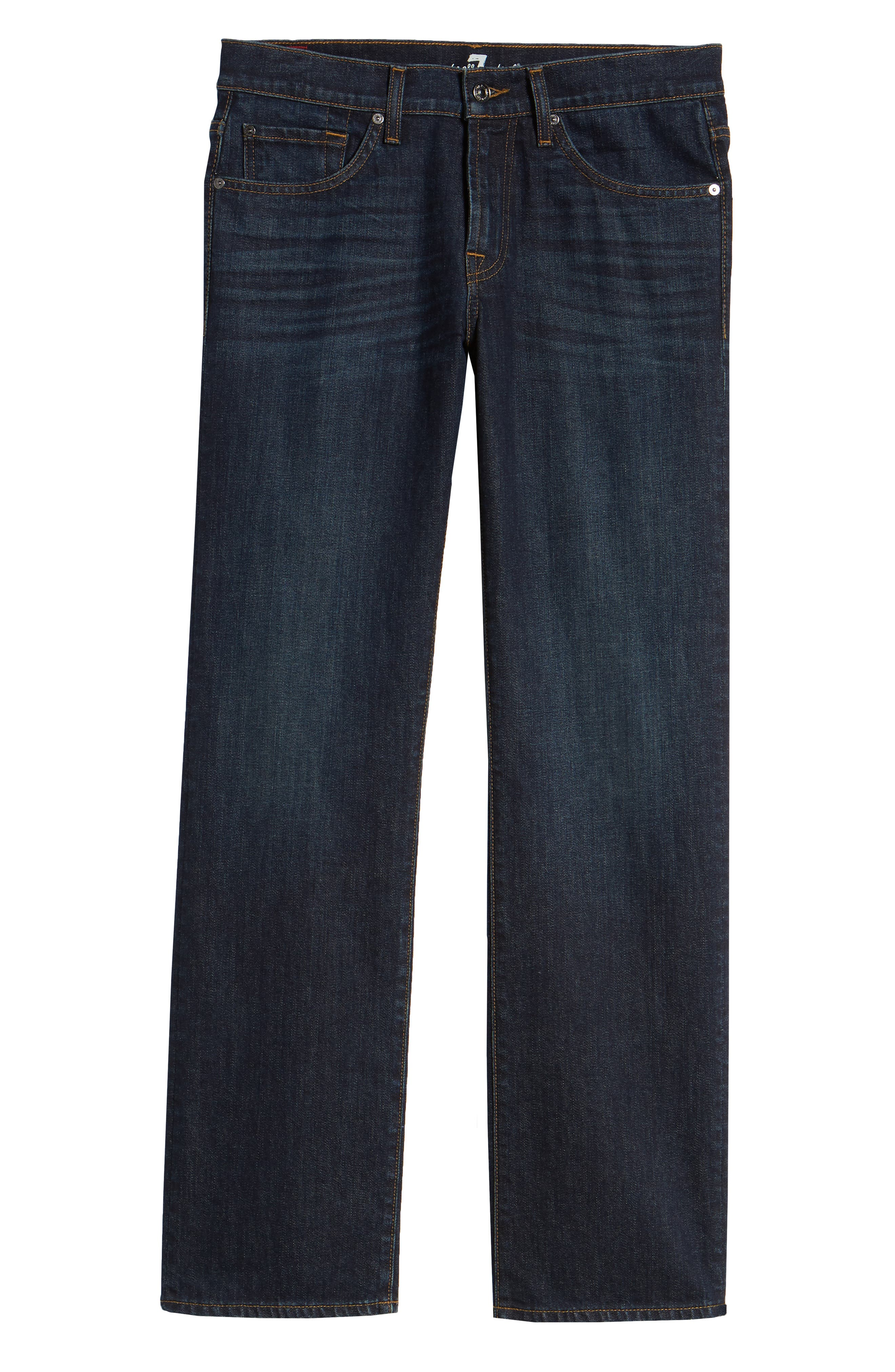 7 FOR ALL MANKIND<SUP>®</SUP>, Austyn Relaxed Straight Leg Jeans, Alternate thumbnail 7, color, ABERDEEN