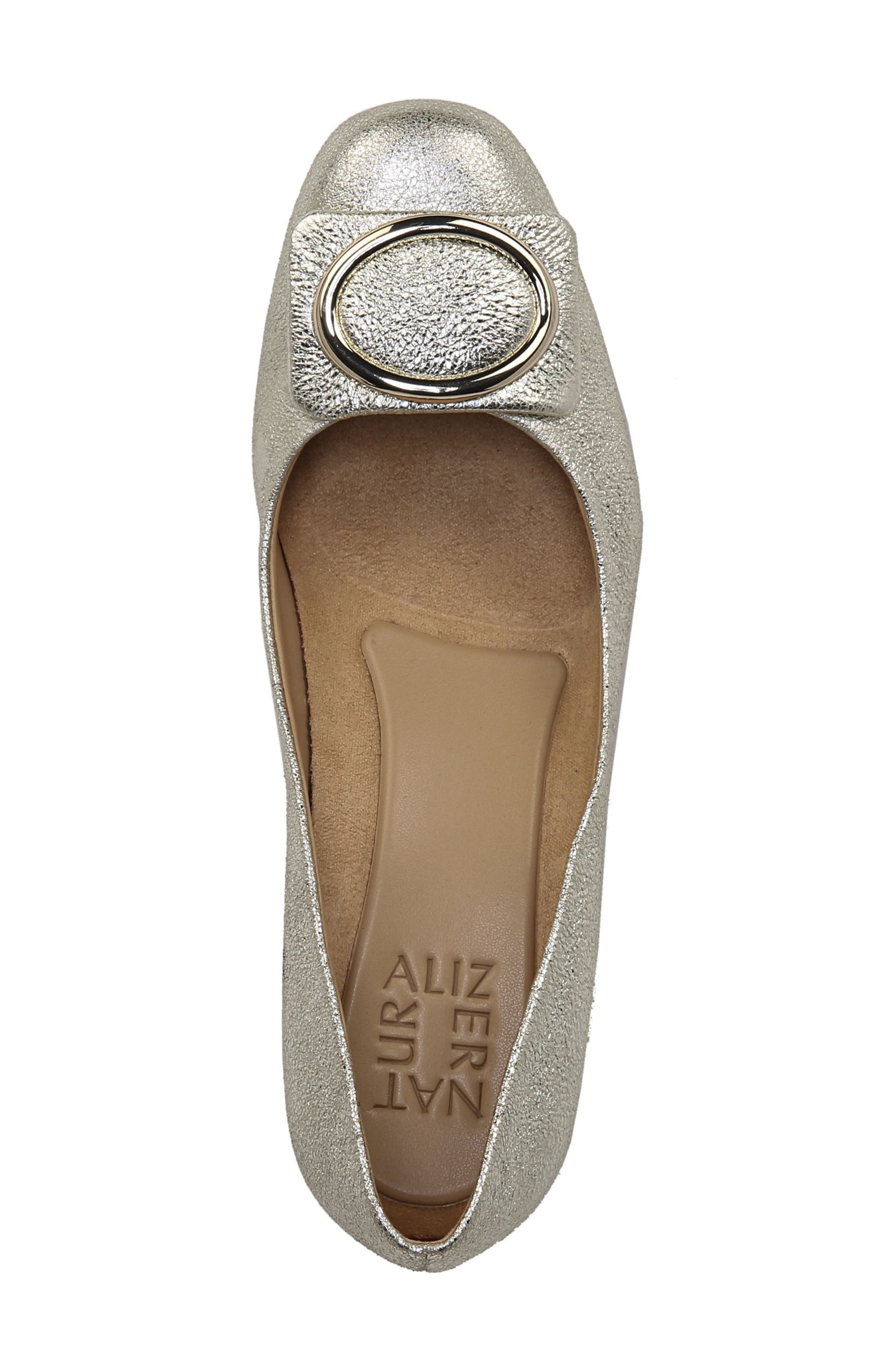NATURALIZER, Wright Pump, Alternate thumbnail 5, color, PLATINO LEATHER