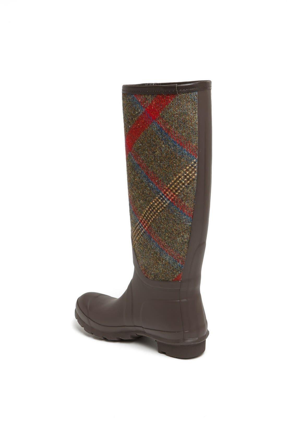 HUNTER, 'Original Mallalieus' Plaid Rain Boot, Alternate thumbnail 2, color, 205