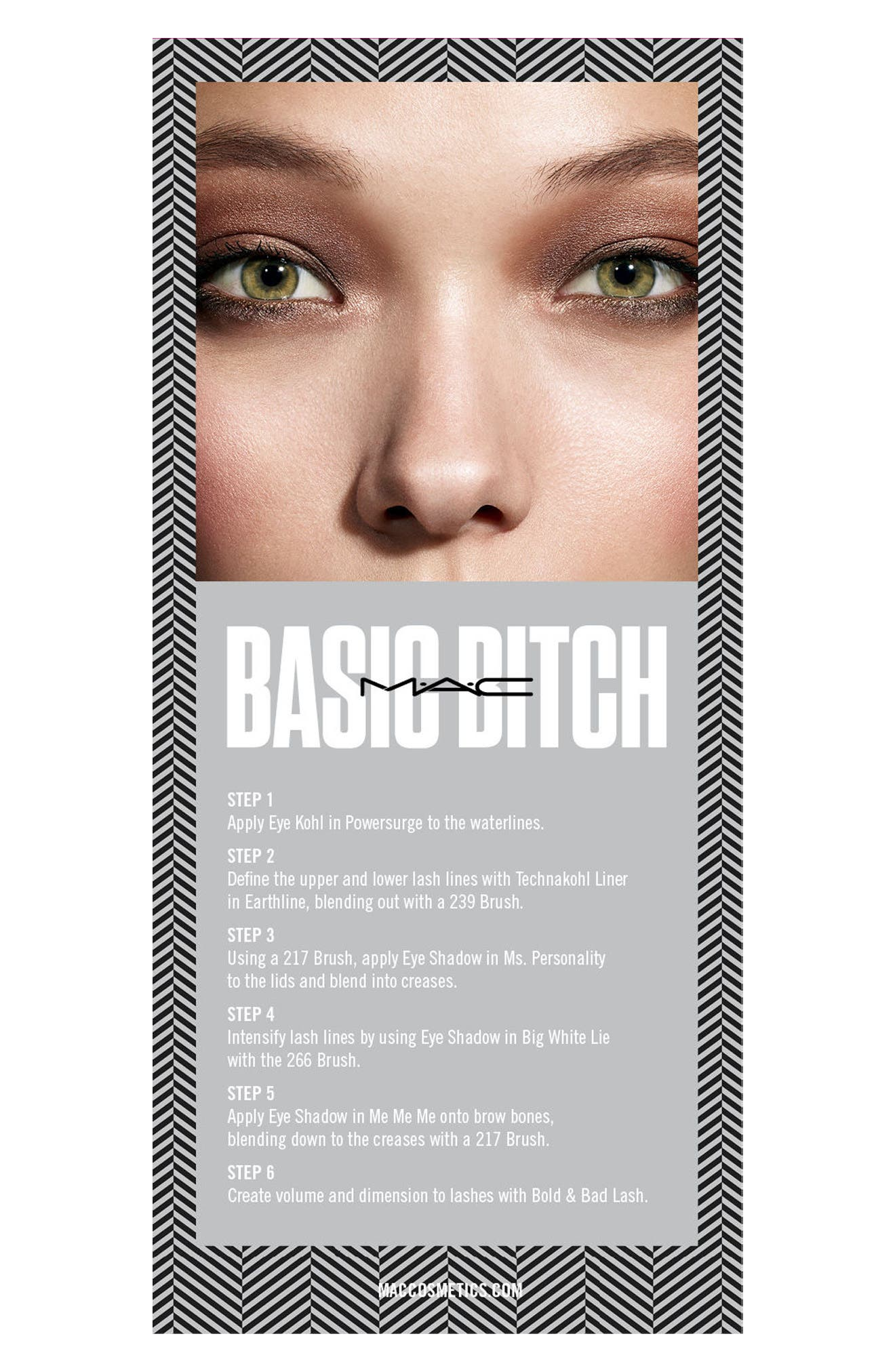 MAC COSMETICS, MAC Girls Basic Bitch Palette, Alternate thumbnail 4, color, 020