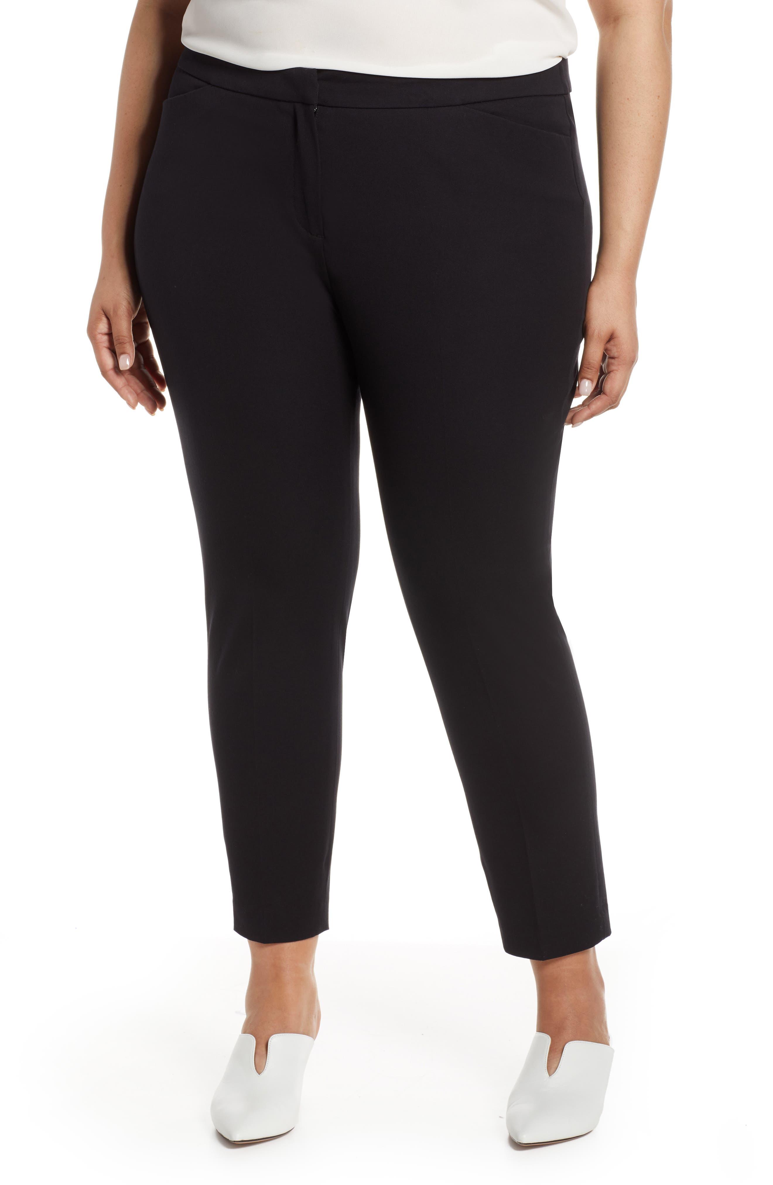 HALOGEN<SUP>®</SUP>, Ankle Pants, Main thumbnail 1, color, BLACK