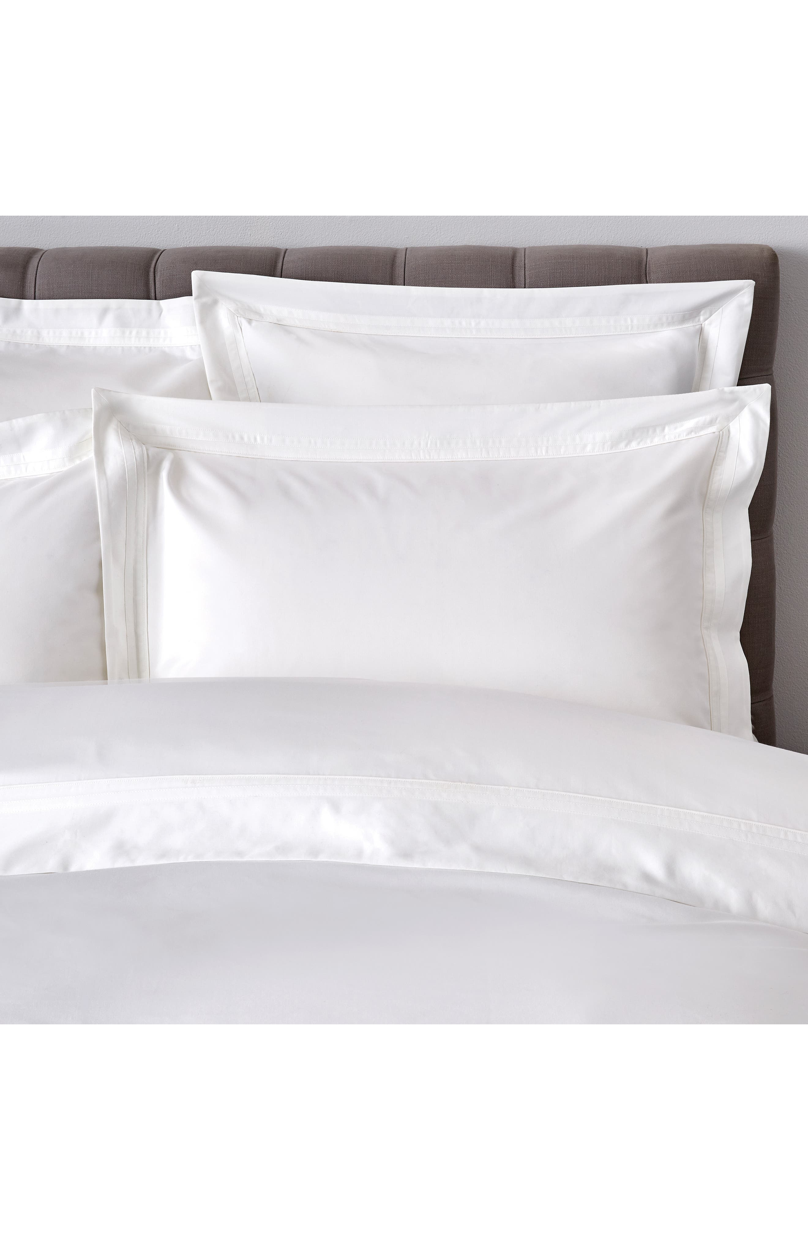 THE WHITE COMPANY, Cavendish 800 Thread Count Flat Sheet, Alternate thumbnail 2, color, WHITE