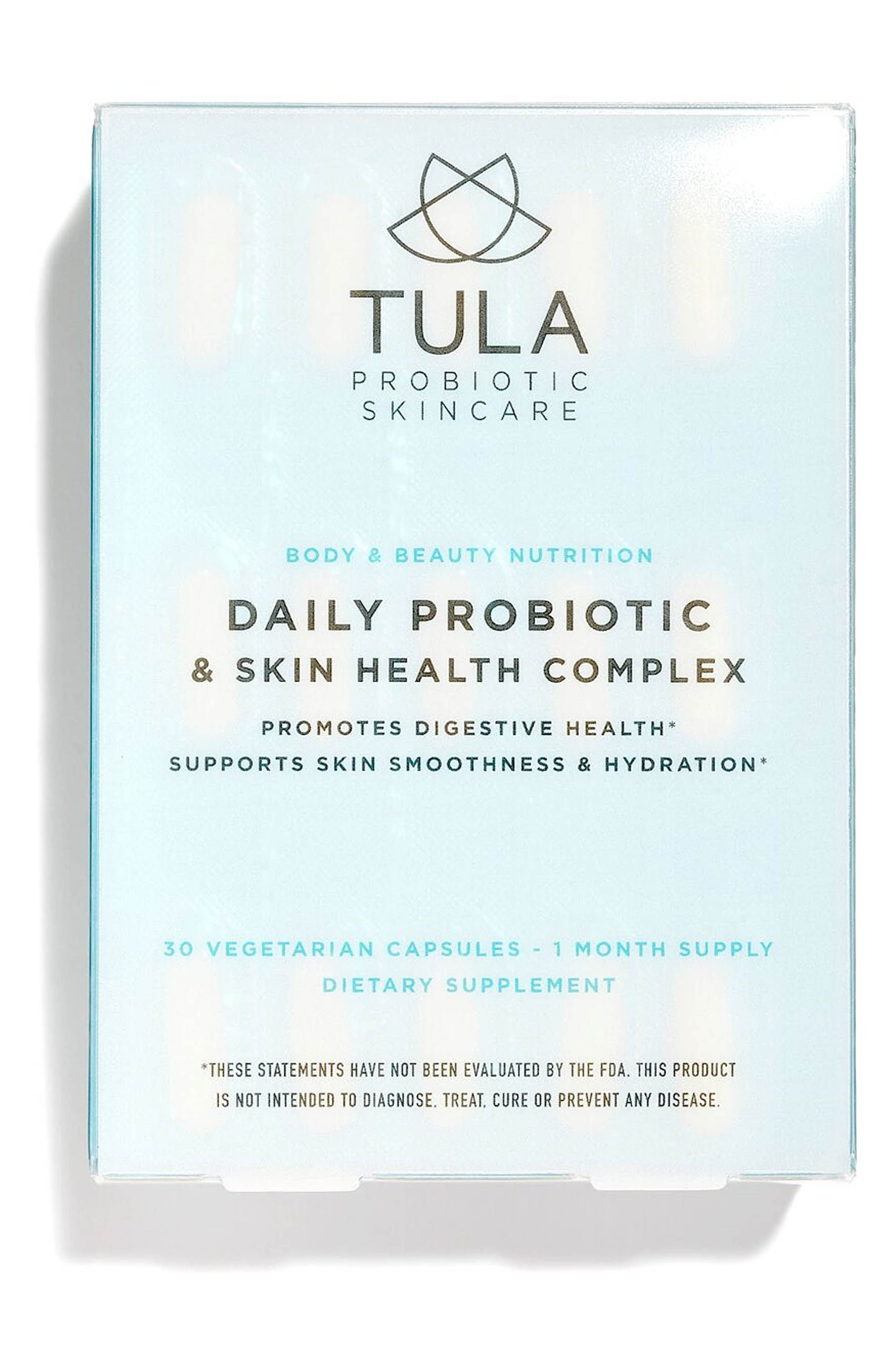 TULA PROBIOTIC SKINCARE, Daily Probiotic + Skin Health Complex Dietary Supplement, Main thumbnail 1, color, NO COLOR