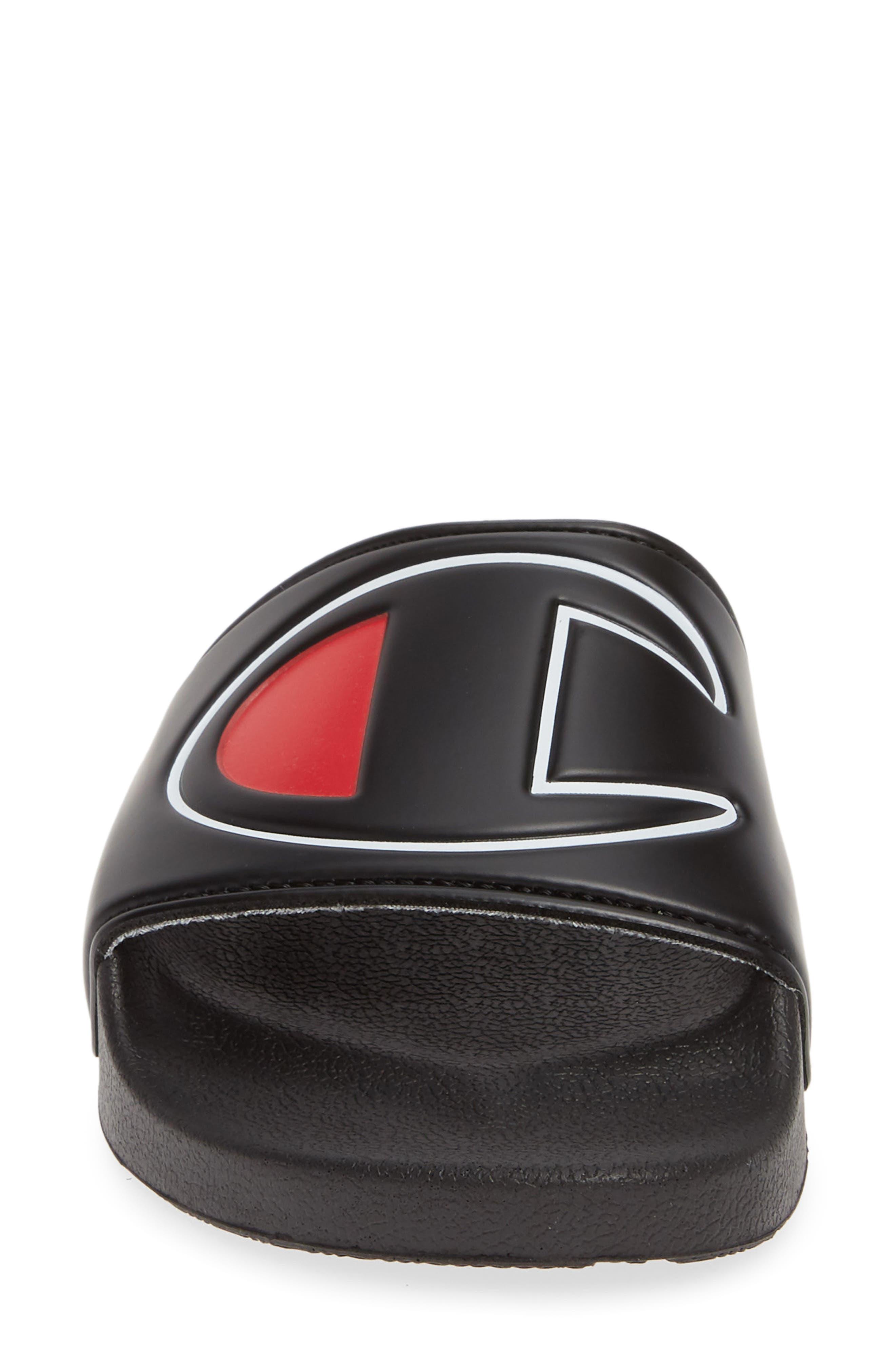 CHAMPION, Slide Sandal, Alternate thumbnail 4, color, BLACK