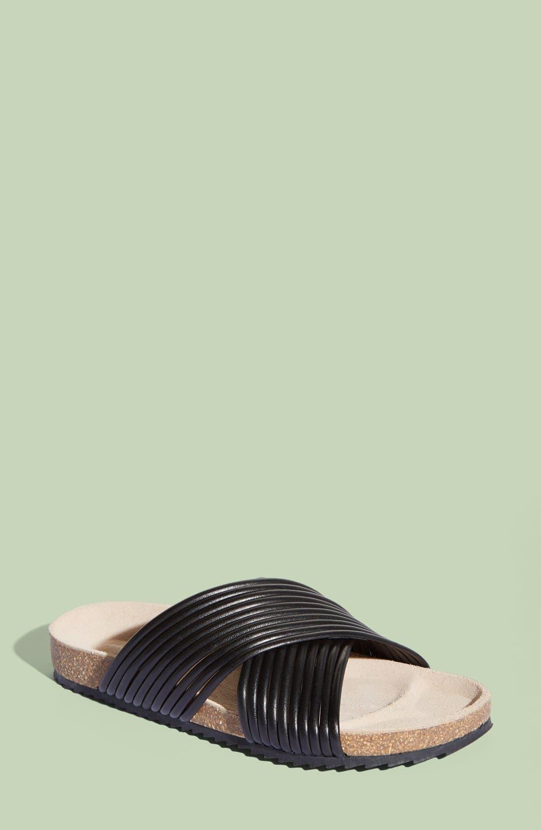 LOEFFLER RANDALL, 'Petra' Slide Footbed Sandal, Main thumbnail 1, color, 001