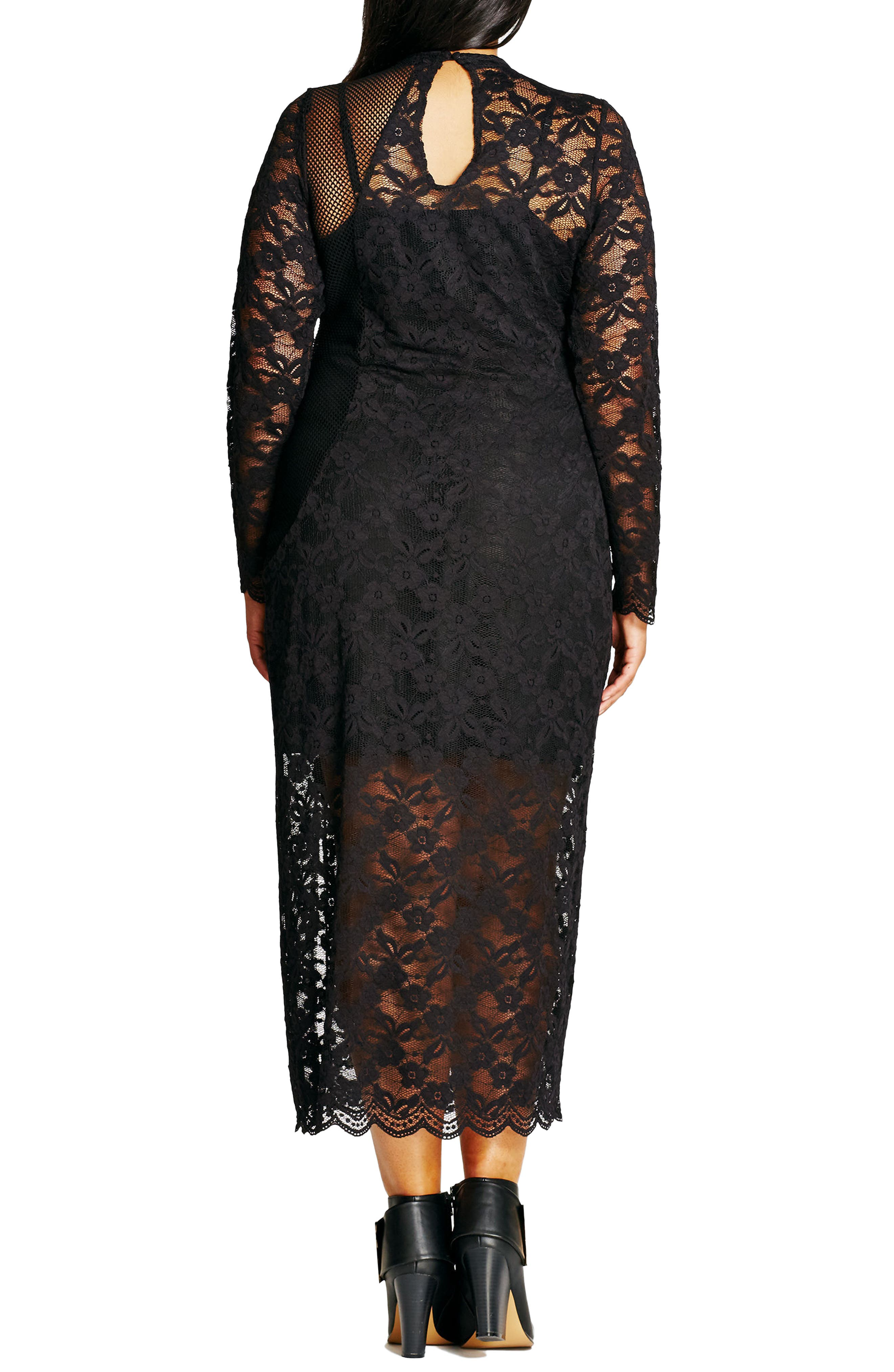 CITY CHIC, Lady Luxe Maxi Dress, Alternate thumbnail 2, color, 001