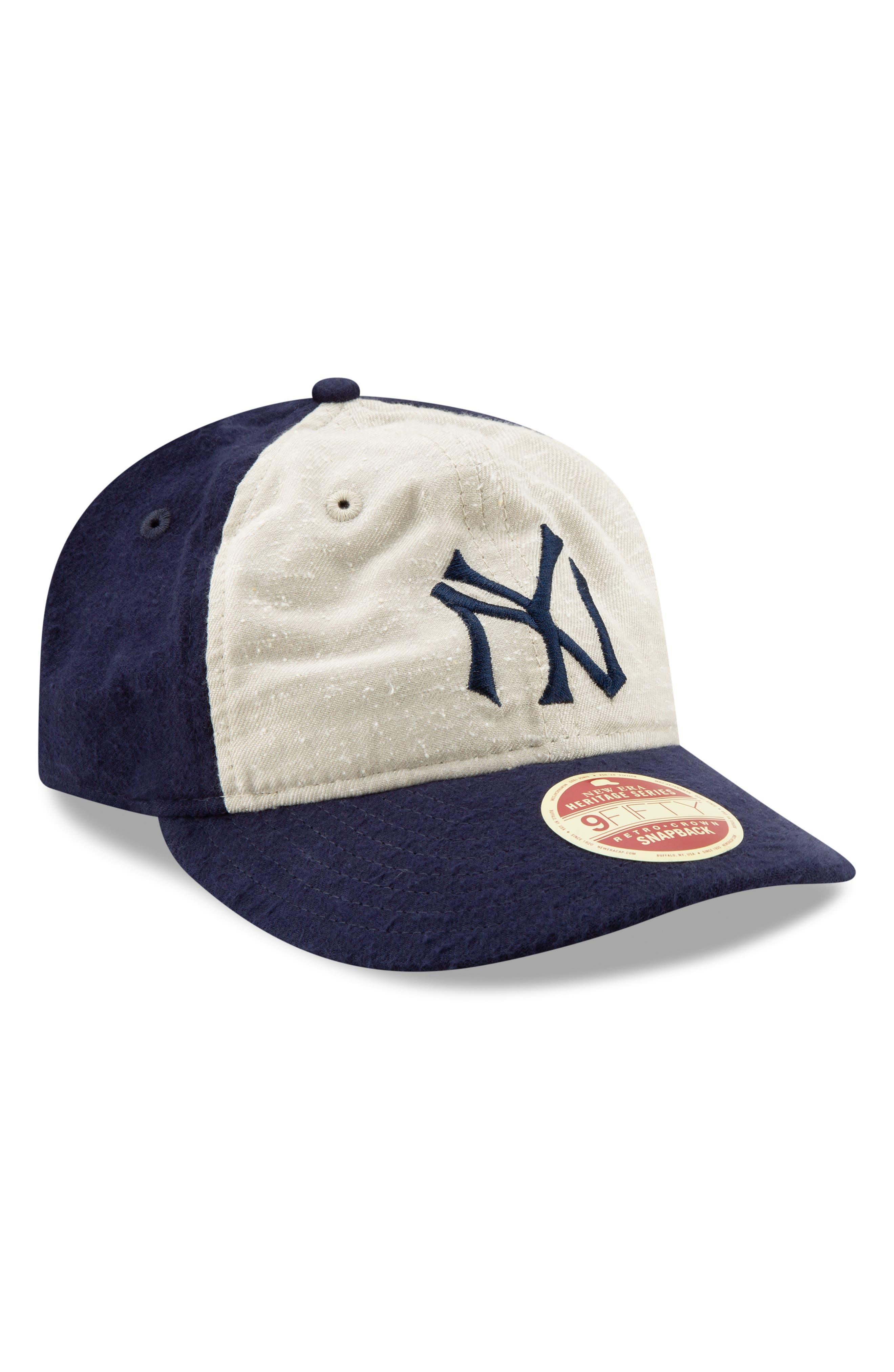 NEW ERA CAP Vintage Slub Cap, Main, color, YANKEES