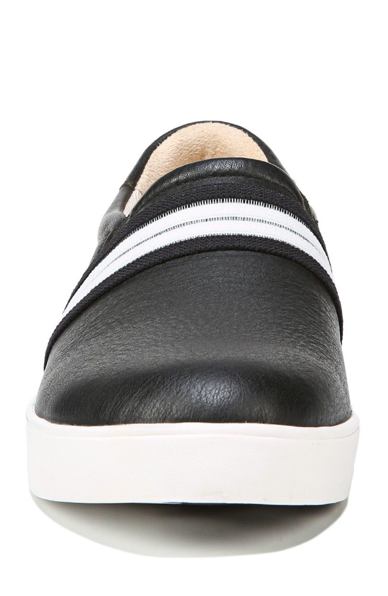 DR. SCHOLL'S, Scout Slip-On Sneaker, Alternate thumbnail 4, color, BLACK LEATHER 2
