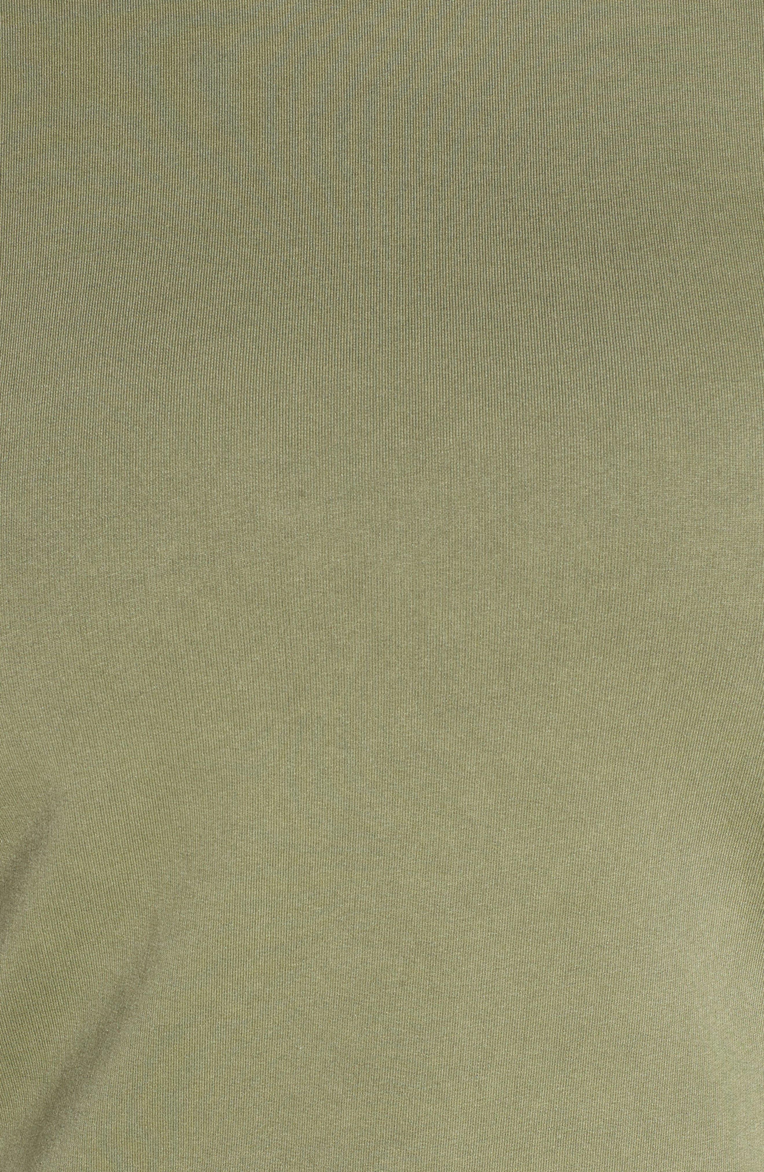 BP., Washed Mock Neck Sweatshirt, Alternate thumbnail 11, color, OLIVE BURNT