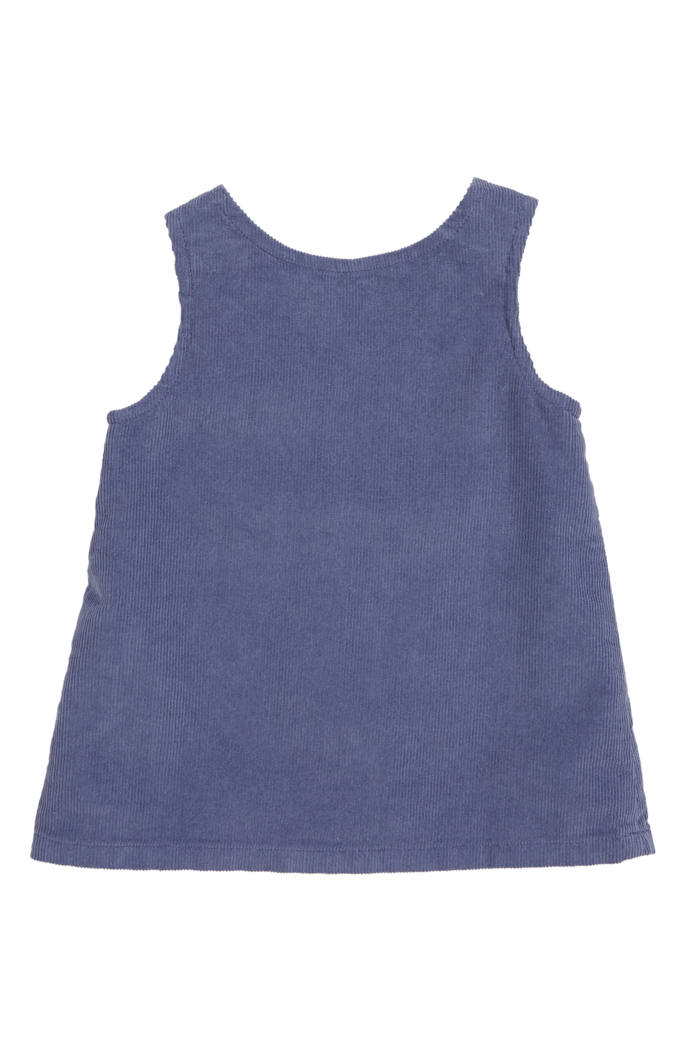 MINI BODEN, Patch Pocket Corduroy Dress, Alternate thumbnail 2, color, PRP VIOLET GREY