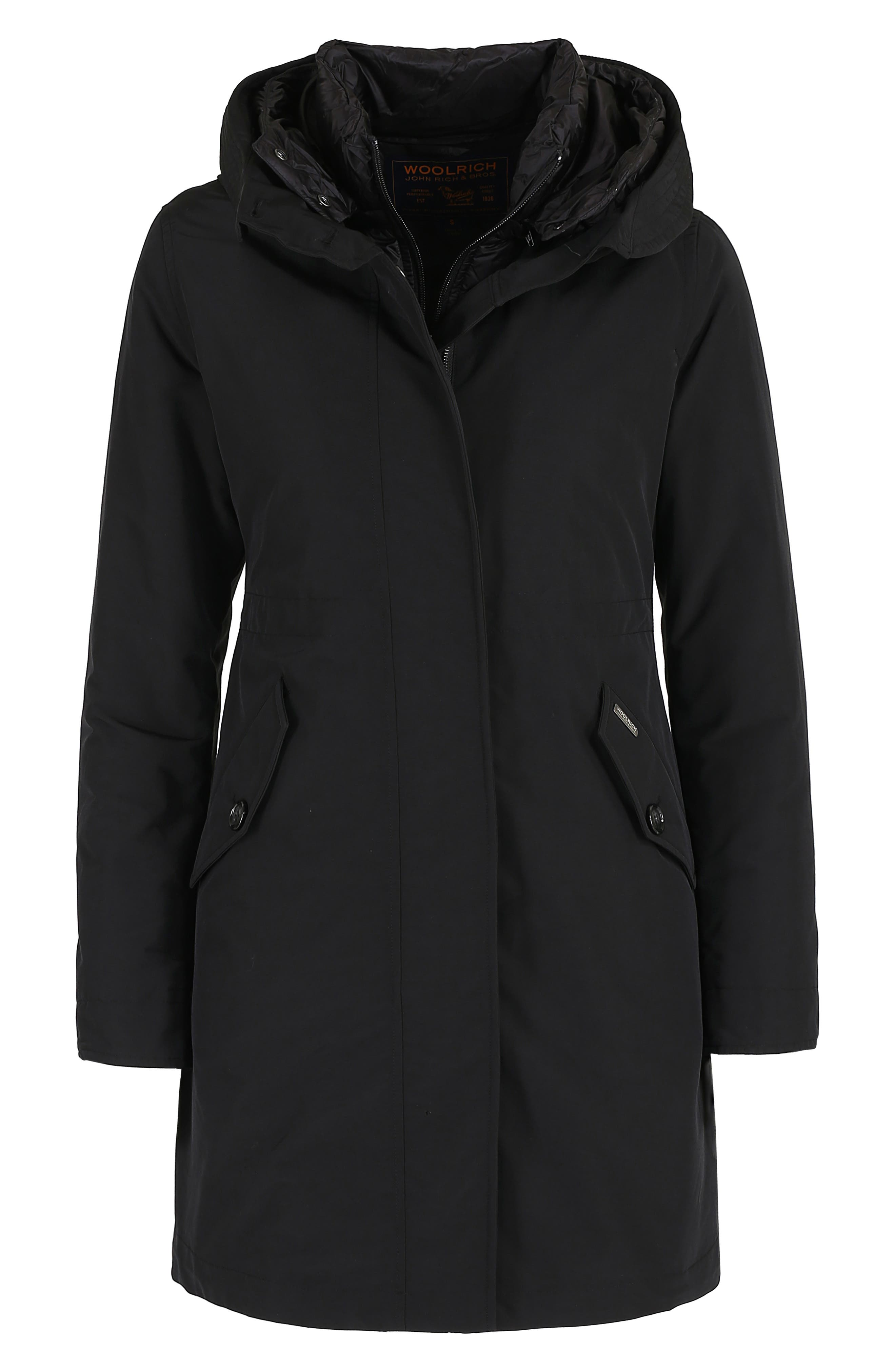 WOOLRICH, Long Military 3-in-1 Parka, Alternate thumbnail 10, color, 001