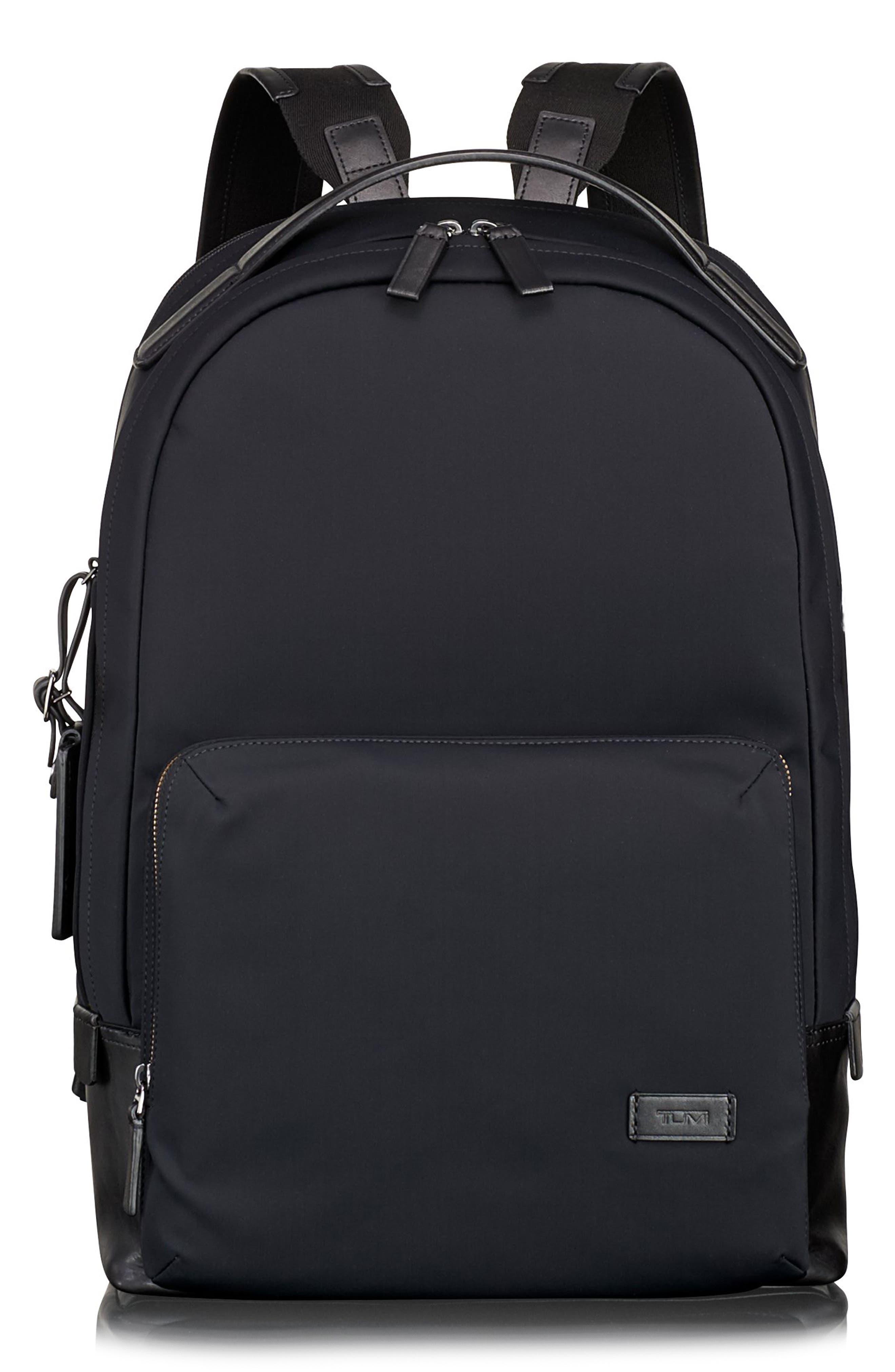 TUMI, Harrison Webster Backpack, Main thumbnail 1, color, BLACK NYLON