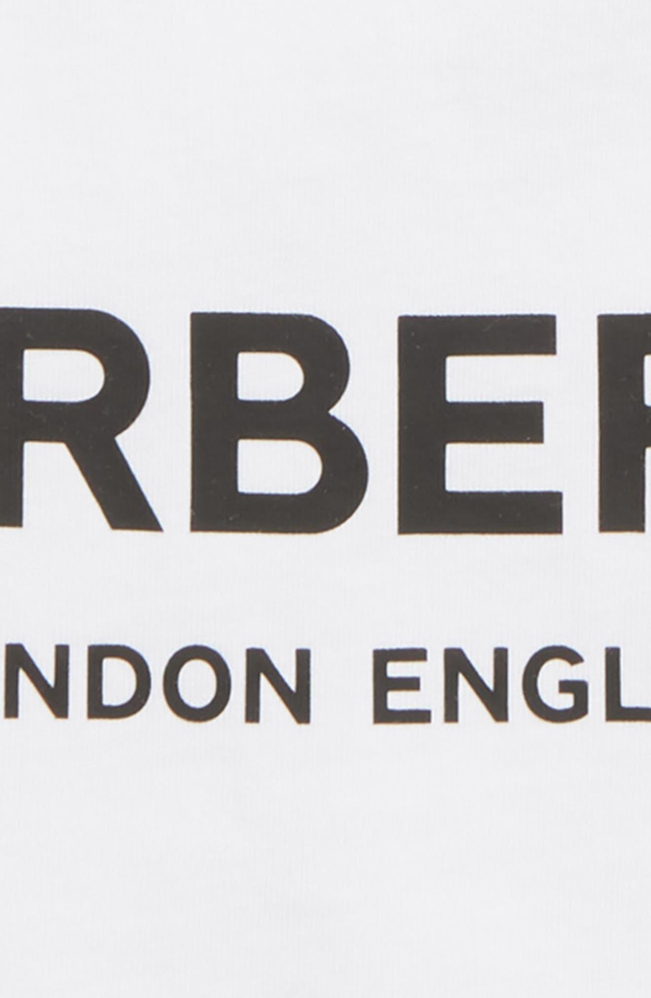 BURBERRY, Mini Robbie T-Shirt, Alternate thumbnail 2, color, WHITE